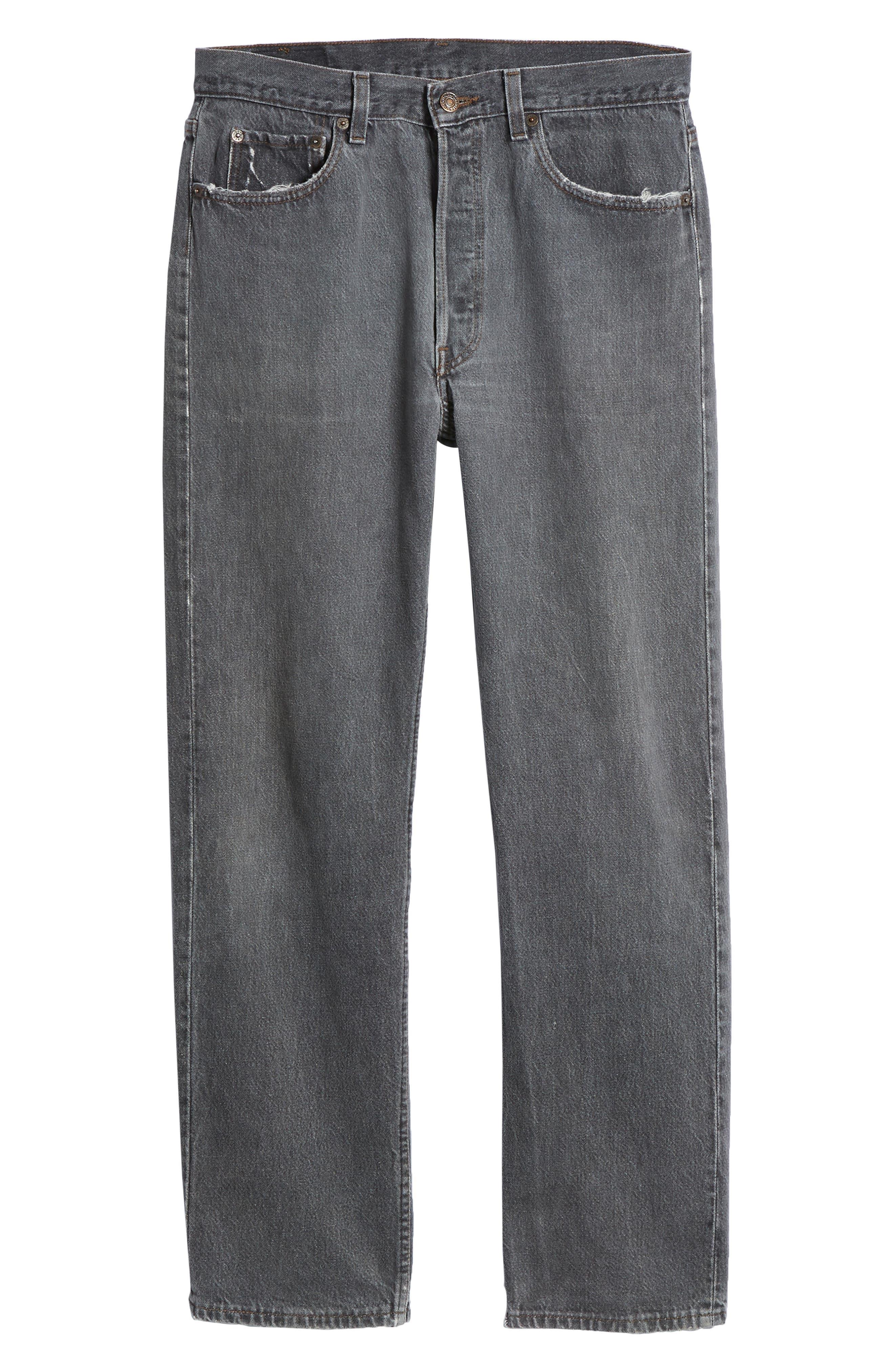 LEVI'S<SUP>®</SUP>,                             Authorized Vintage 501<sup>™</sup> Original Fit Jeans,                             Alternate thumbnail 6, color,                             AV BLACK
