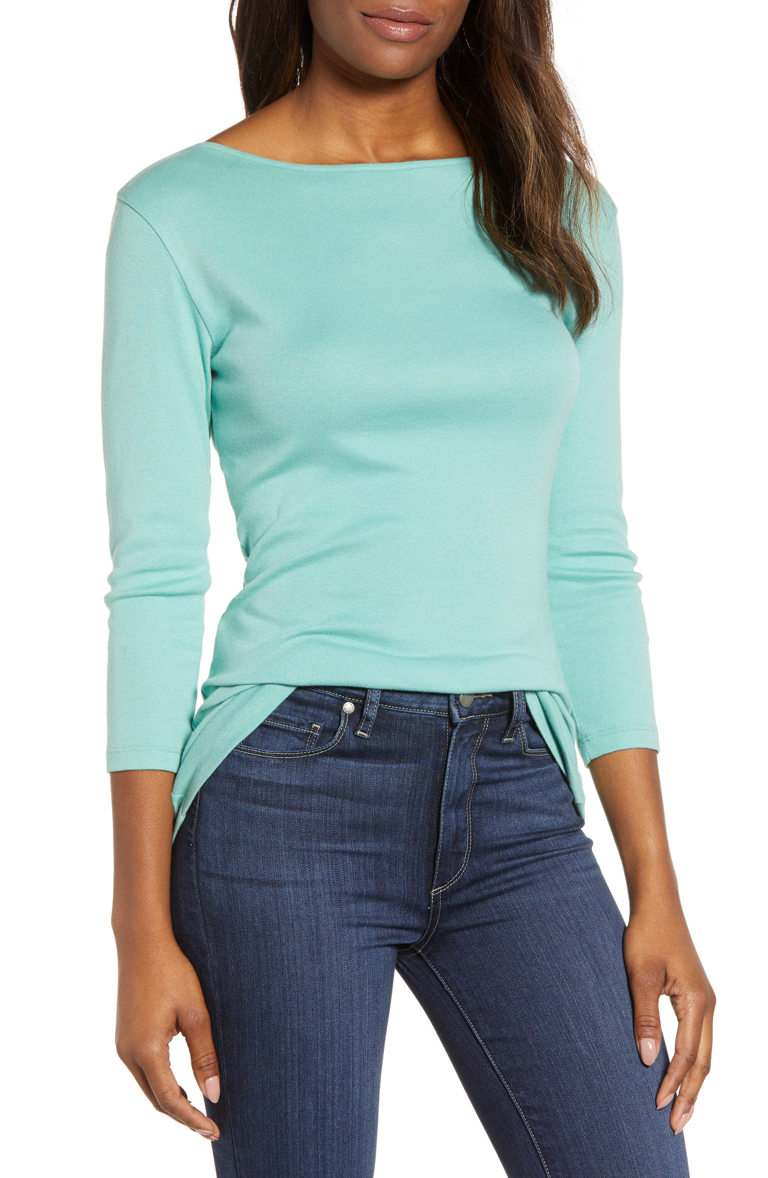 Three Quarter Sleeve Tee,                         Main,                         color, 330