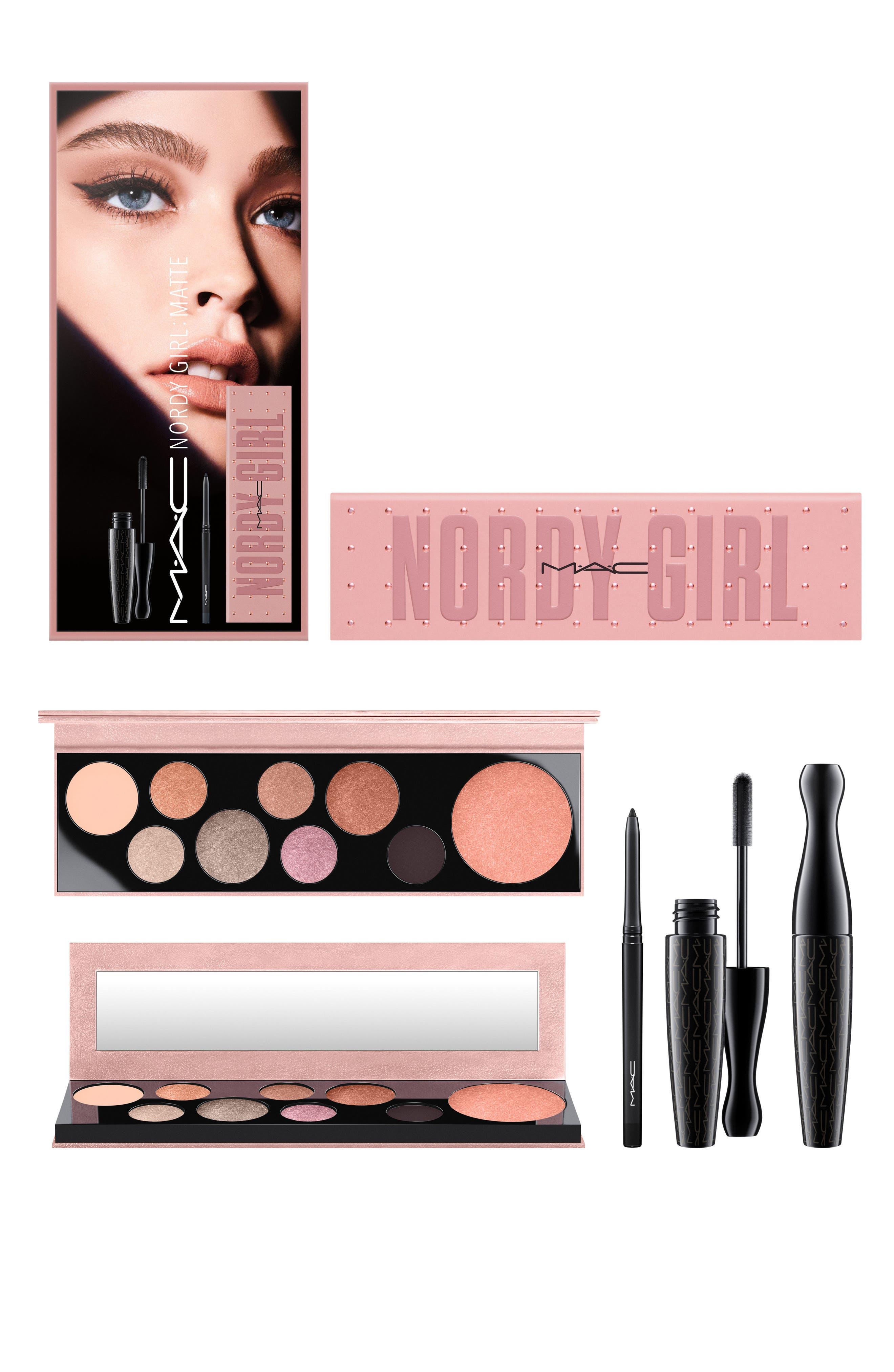 MAC Nordy Girl Matte Face & Eye Set,                             Alternate thumbnail 13, color,                             000