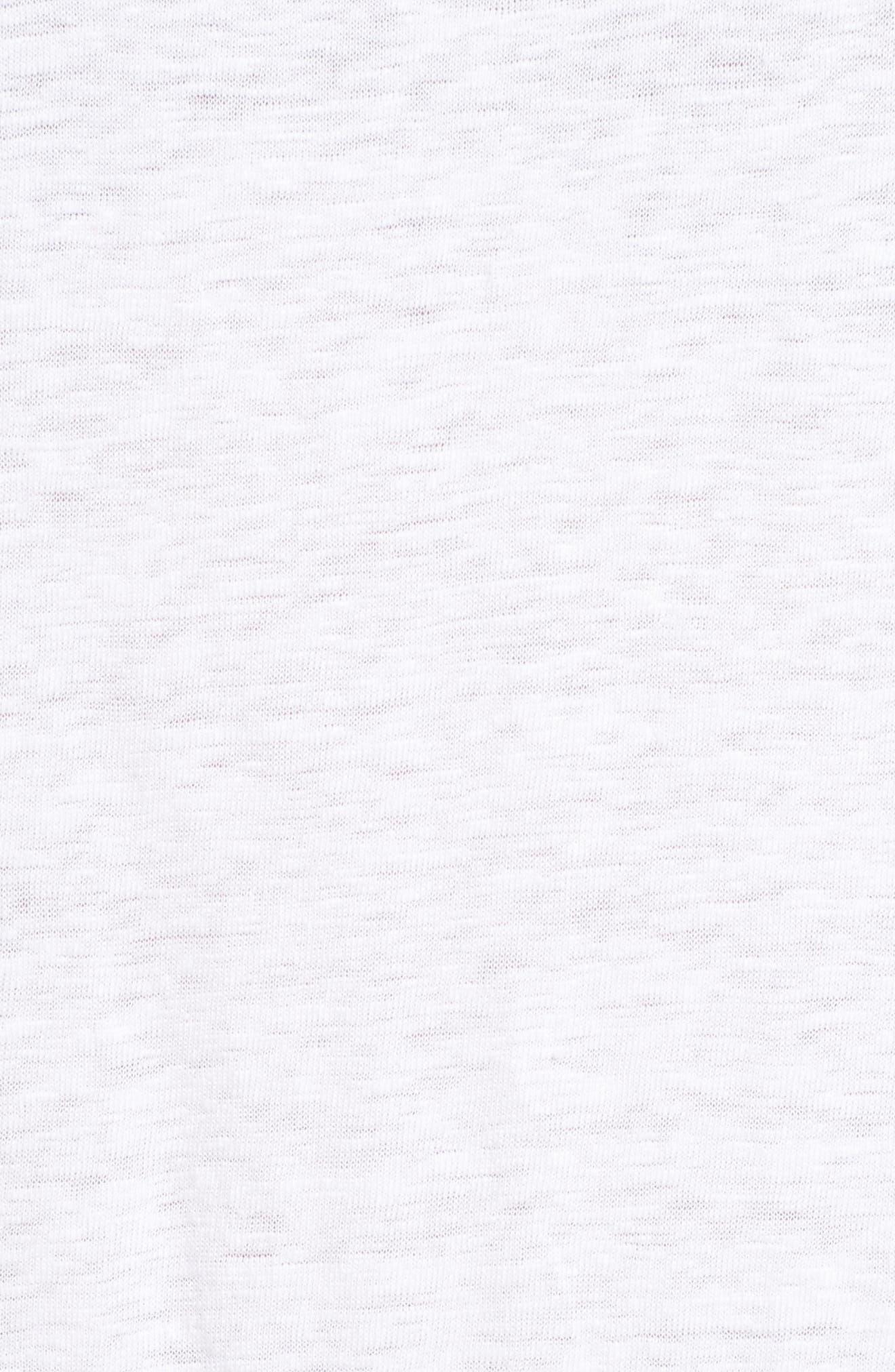Soft V-Neck Organic Linen Tee,                             Alternate thumbnail 5, color,                             100