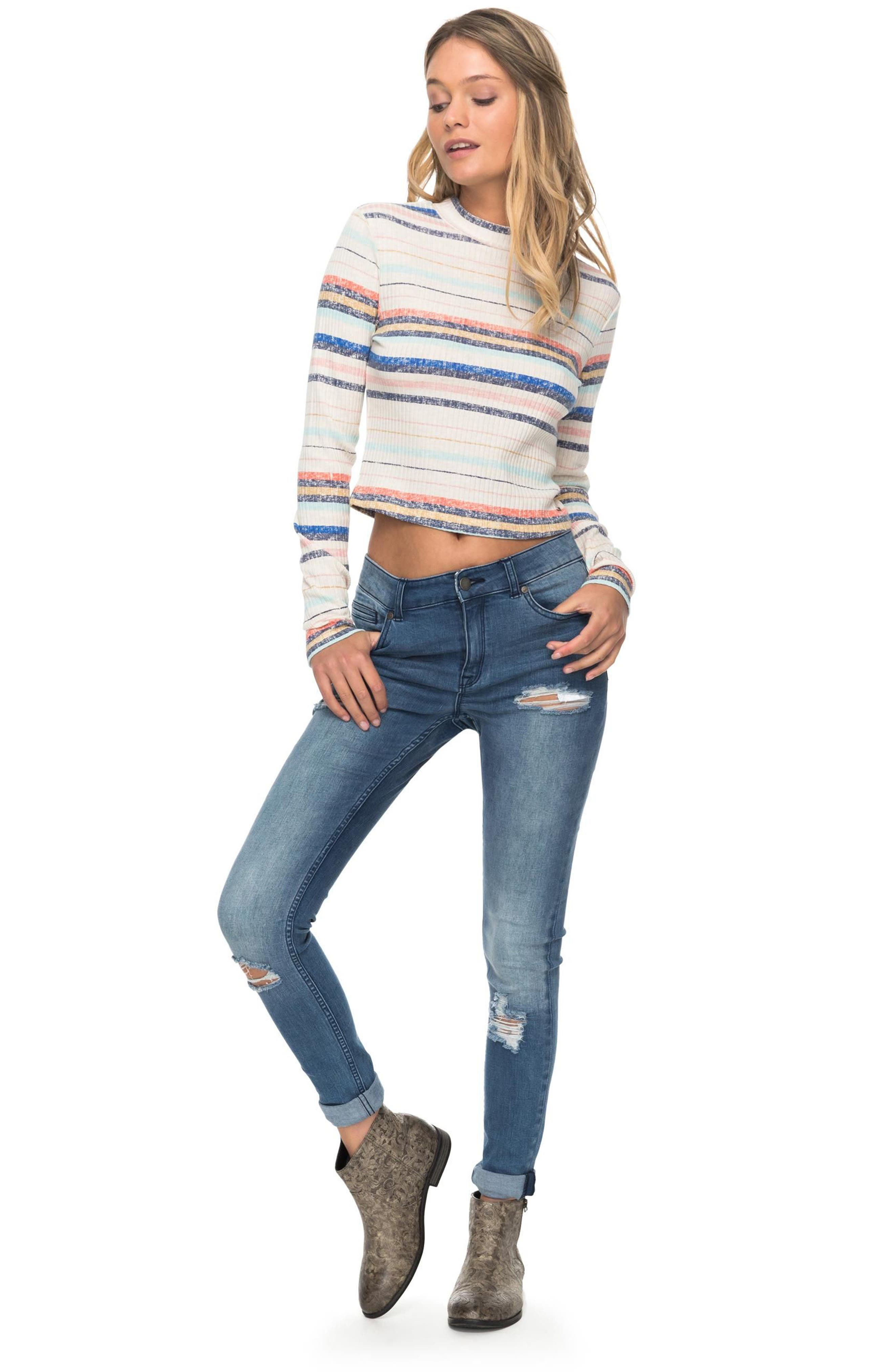 Smooth Move Mock Neck Crop Sweater,                             Alternate thumbnail 5, color,