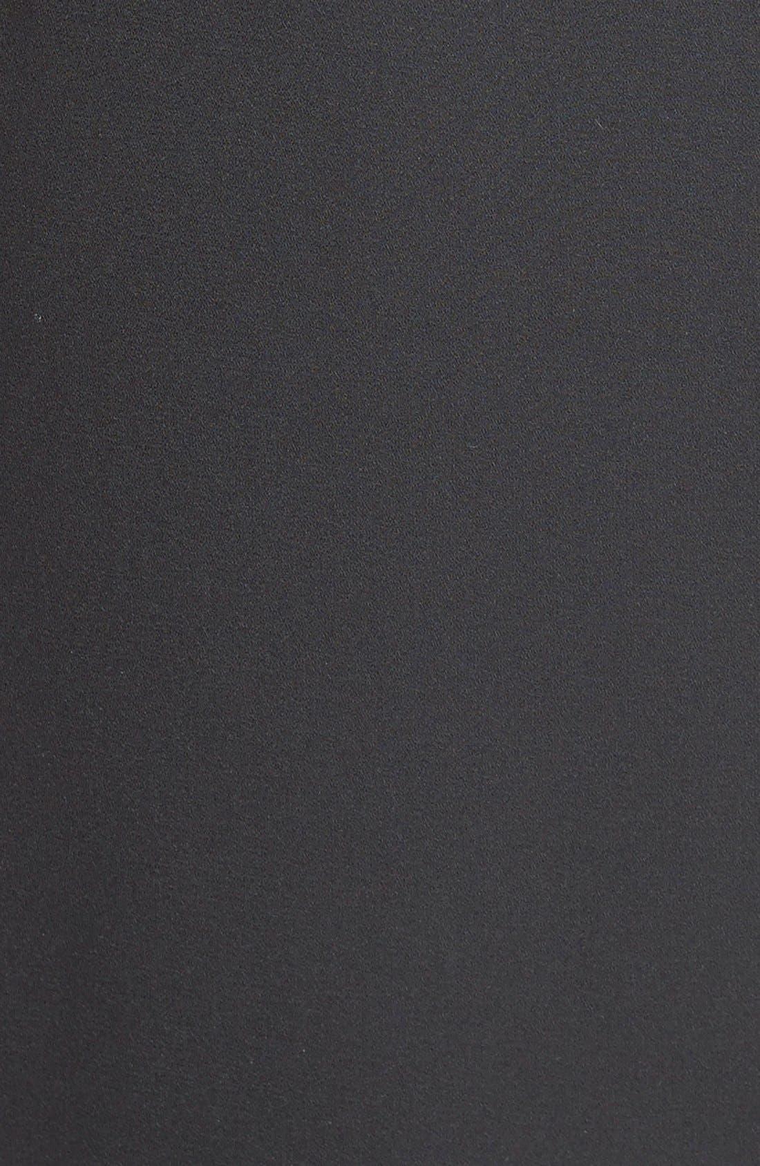Petal Hem Sheath Dress,                             Alternate thumbnail 2, color,                             001