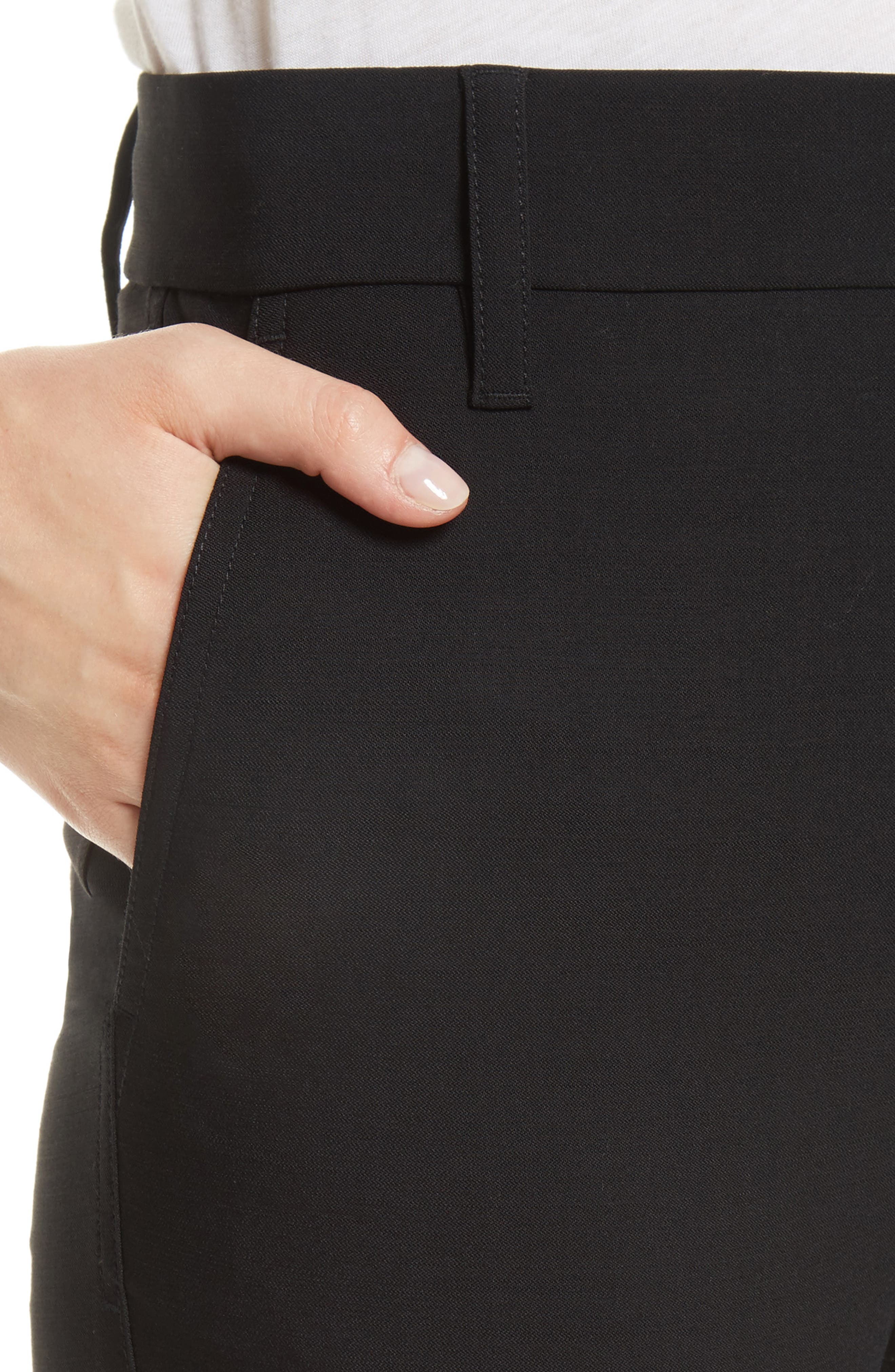 VINCE,                             Tapered Ankle Trousers,                             Alternate thumbnail 4, color,                             BLACK