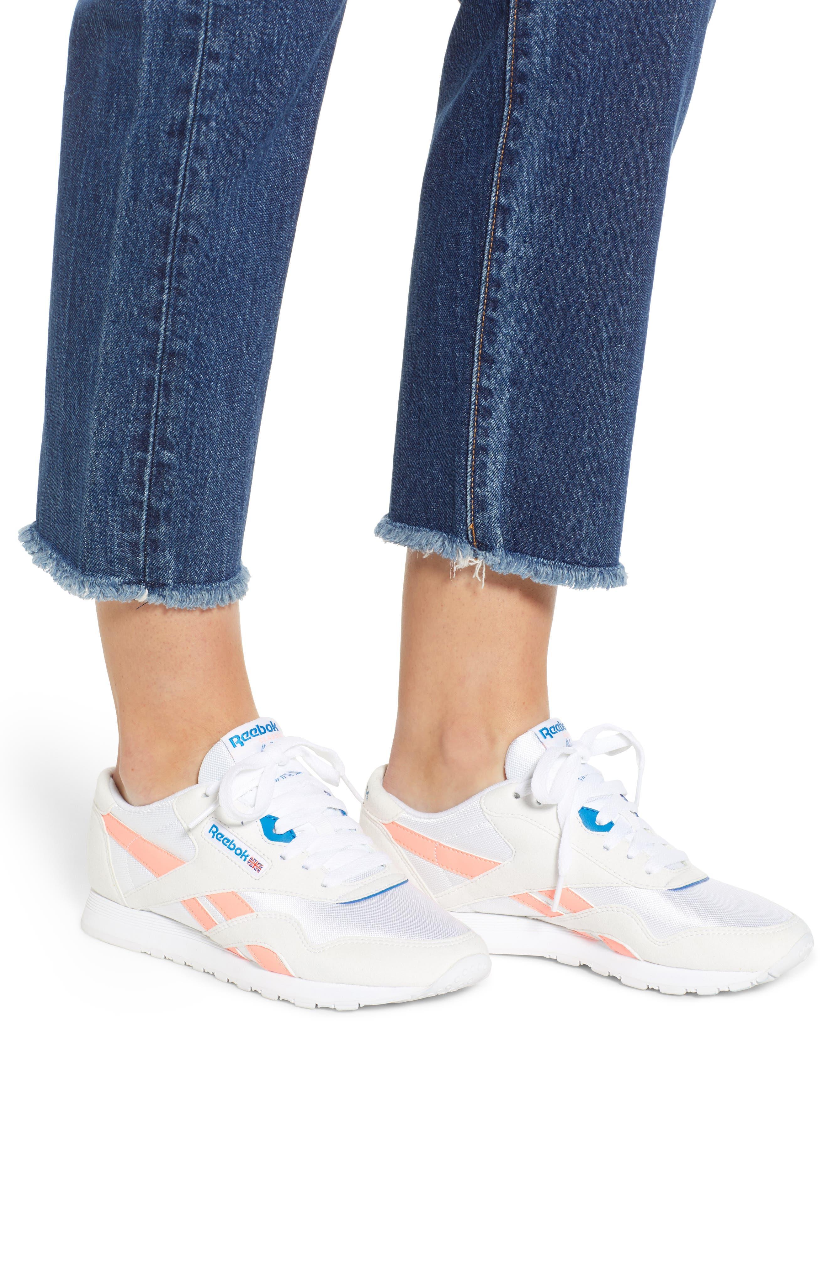 Wedgie High Waist Ankle Straight Leg Jeans,                             Alternate thumbnail 4, color,                             BELOW THE BELT