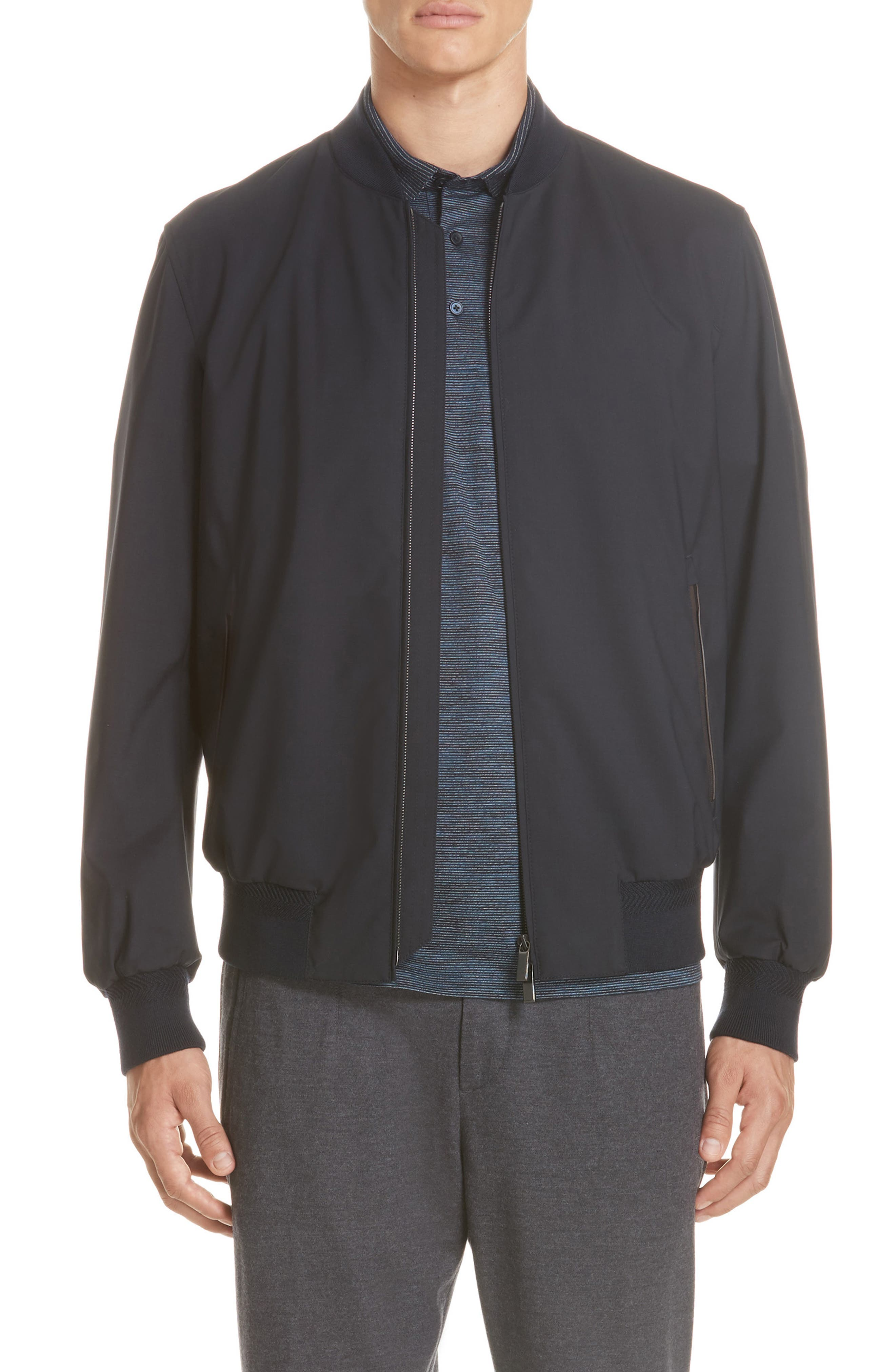 Trofeo Wool Jacket,                         Main,                         color, NAVY