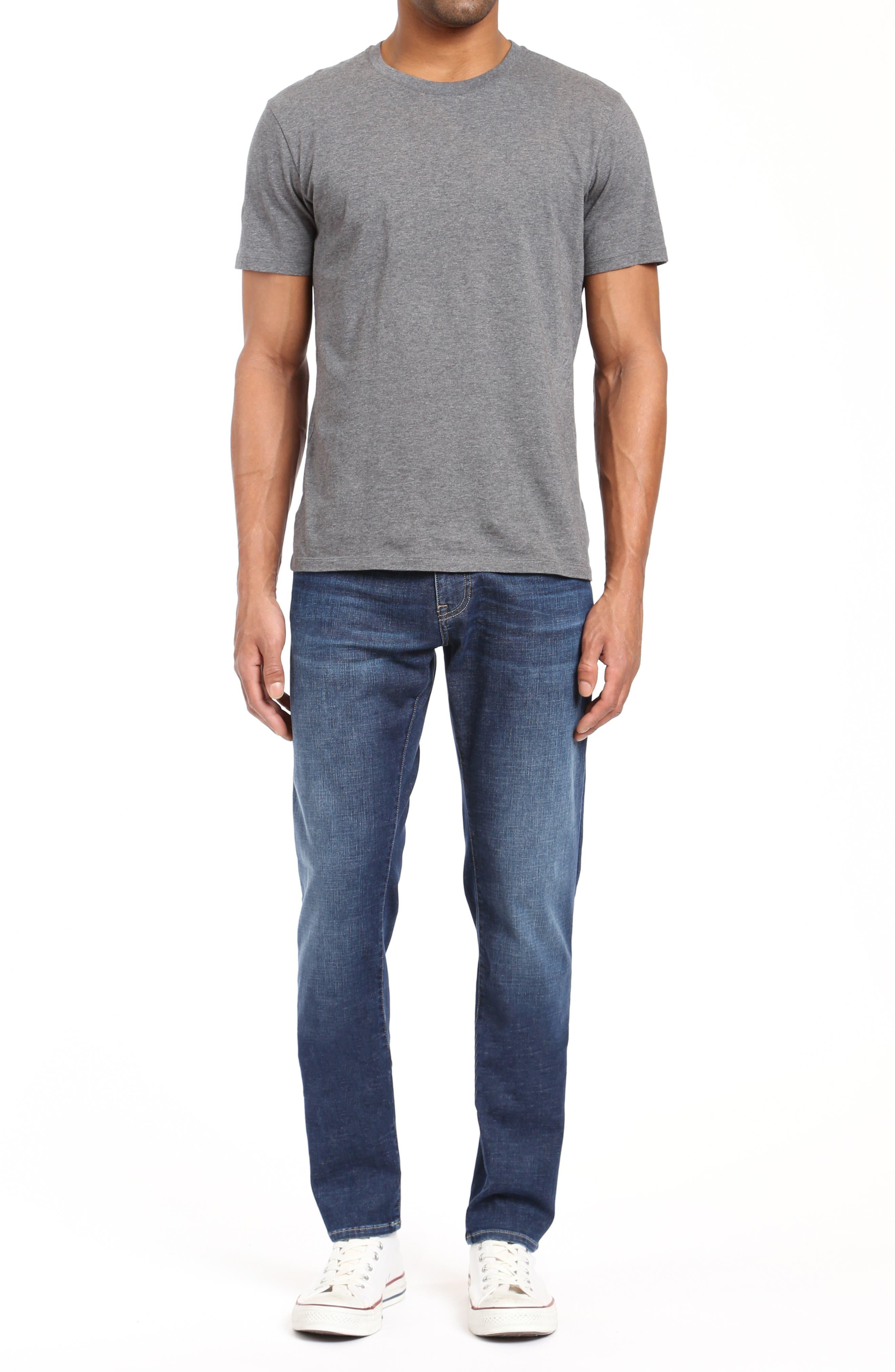Jake Slim Fit Jeans,                             Alternate thumbnail 4, color,                             DARK BRUSHED CASHMERE