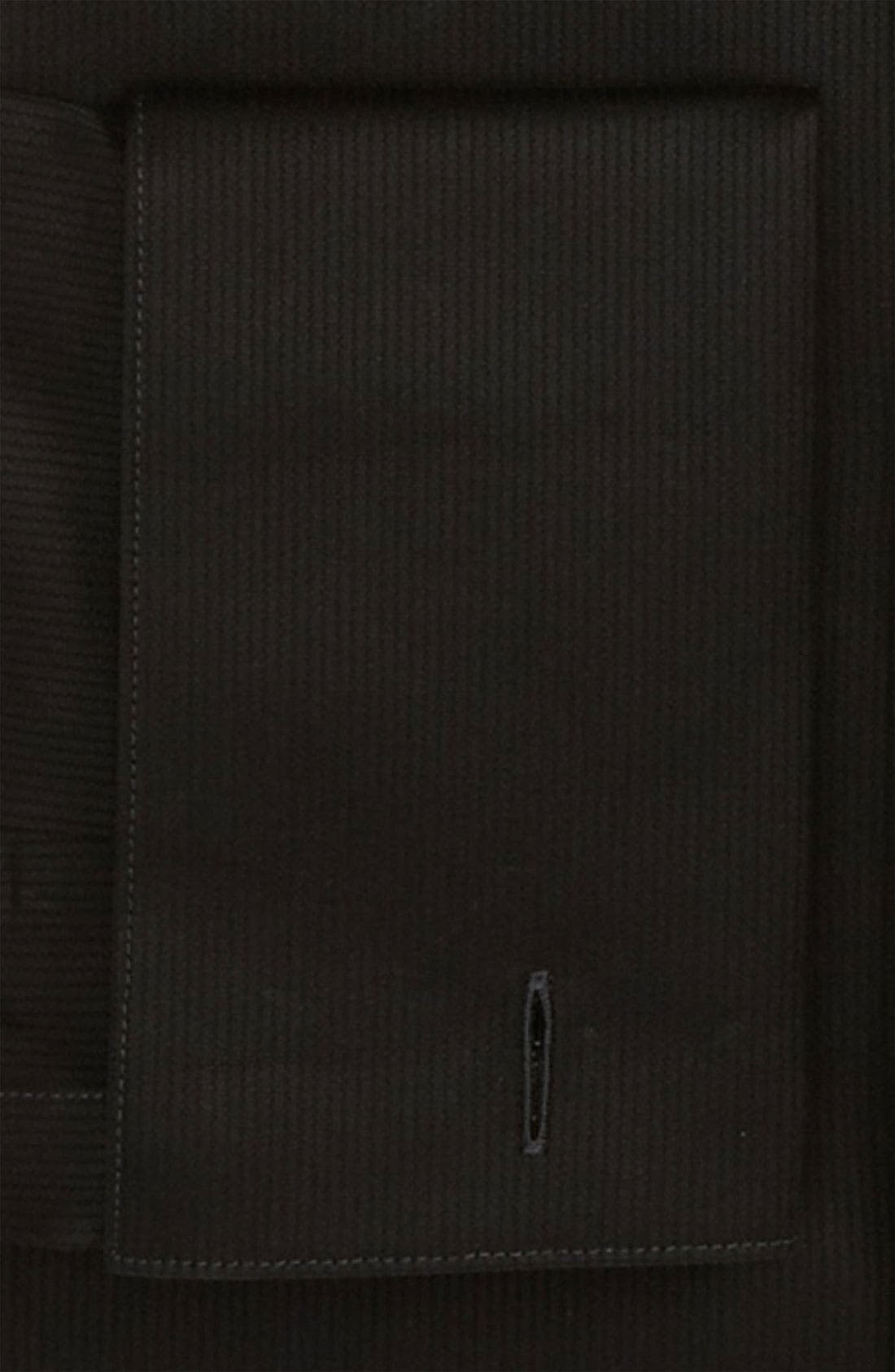 'Marlyn' Sharp Fit Stripe French Cuff Tuxedo Shirt,                             Alternate thumbnail 4, color,