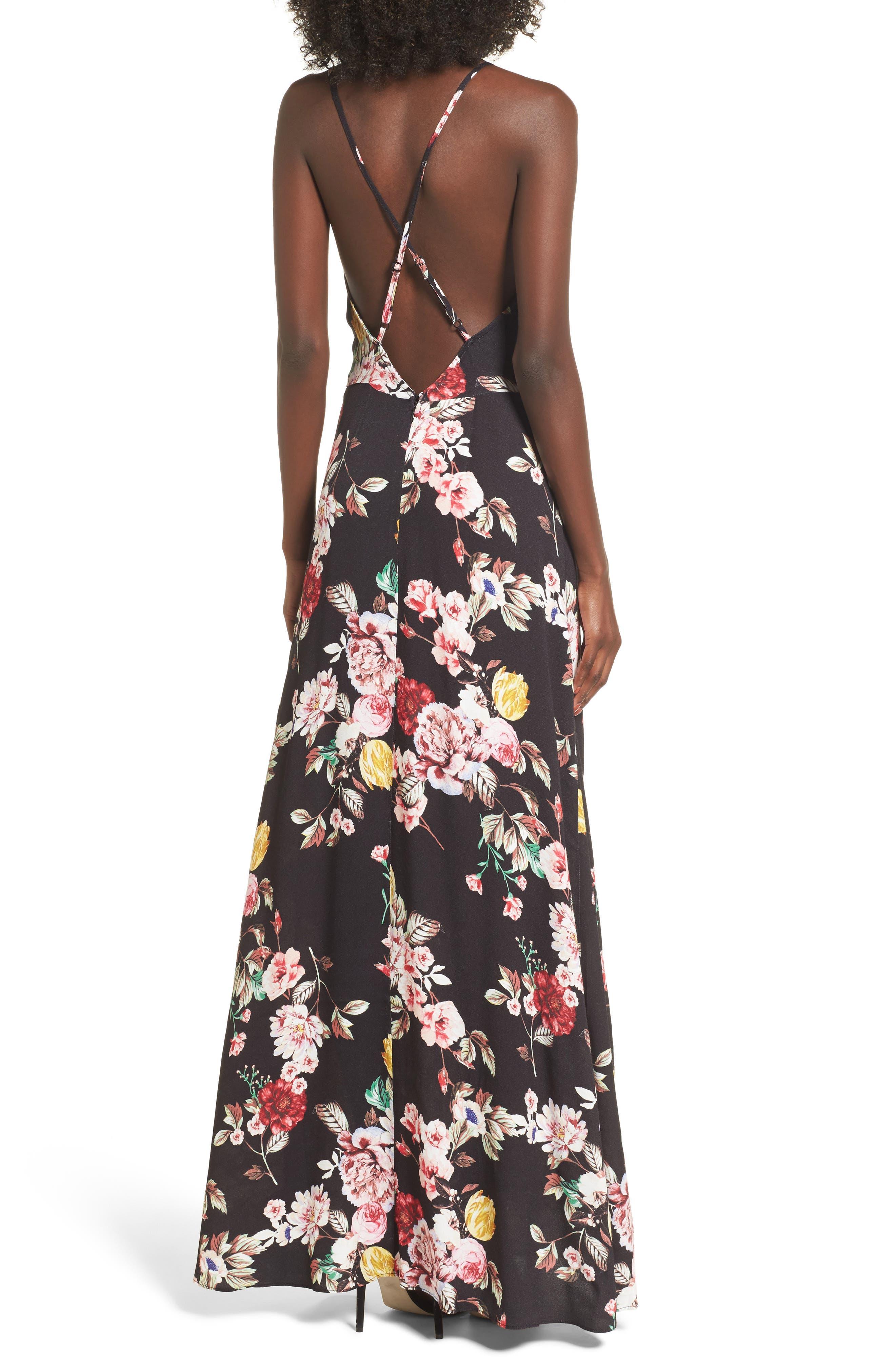 Kinsely Faux-Wrap Maxi Dress,                             Alternate thumbnail 2, color,                             002
