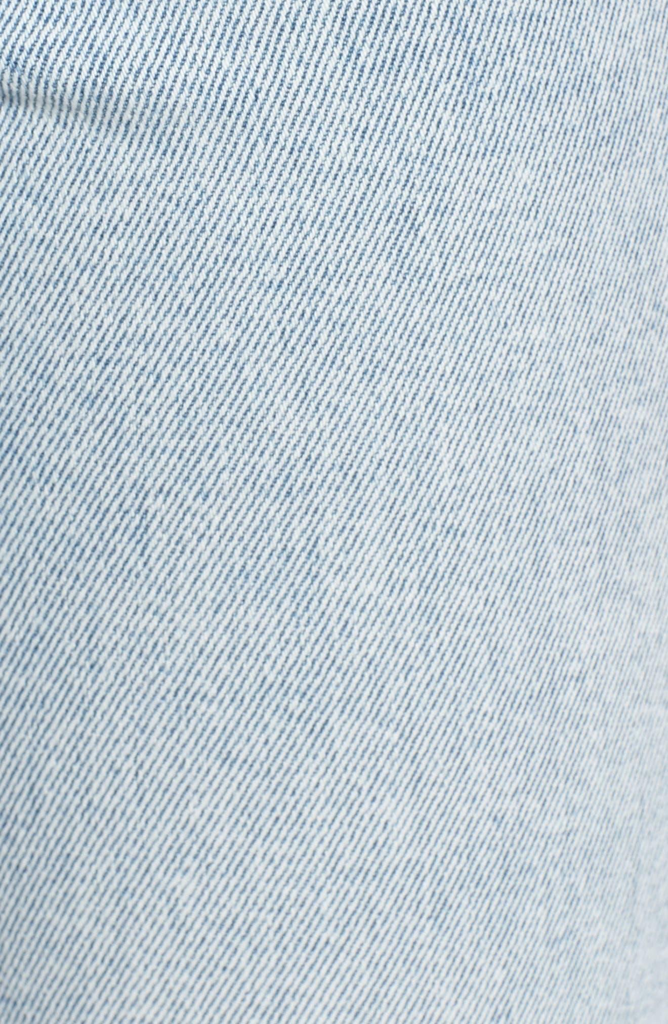 Acid Wash High Waist Crop Jeans,                             Alternate thumbnail 6, color,                             454