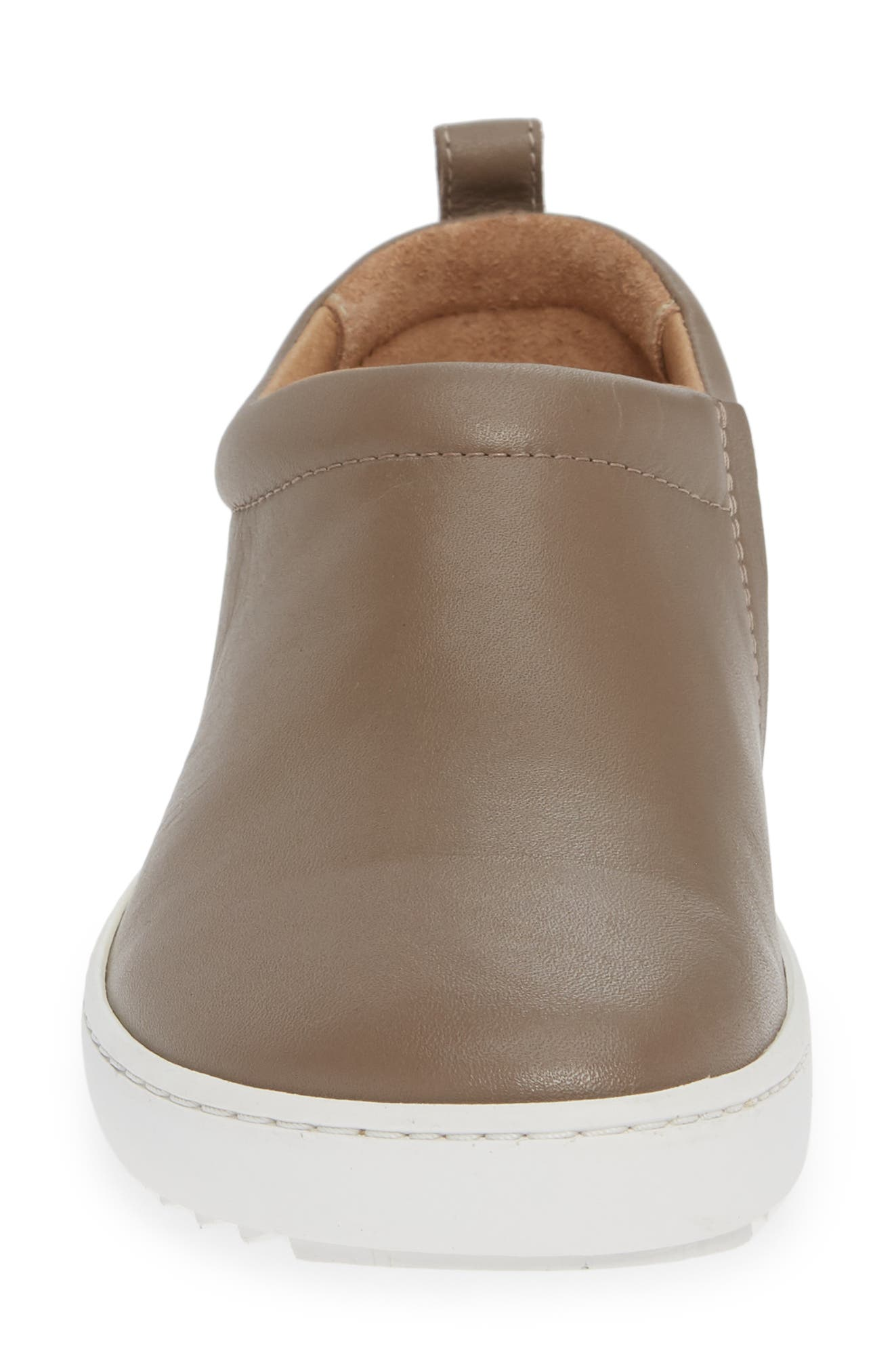 Rena Slip-On Sneaker,                             Alternate thumbnail 4, color,                             TAUPE LEATHER