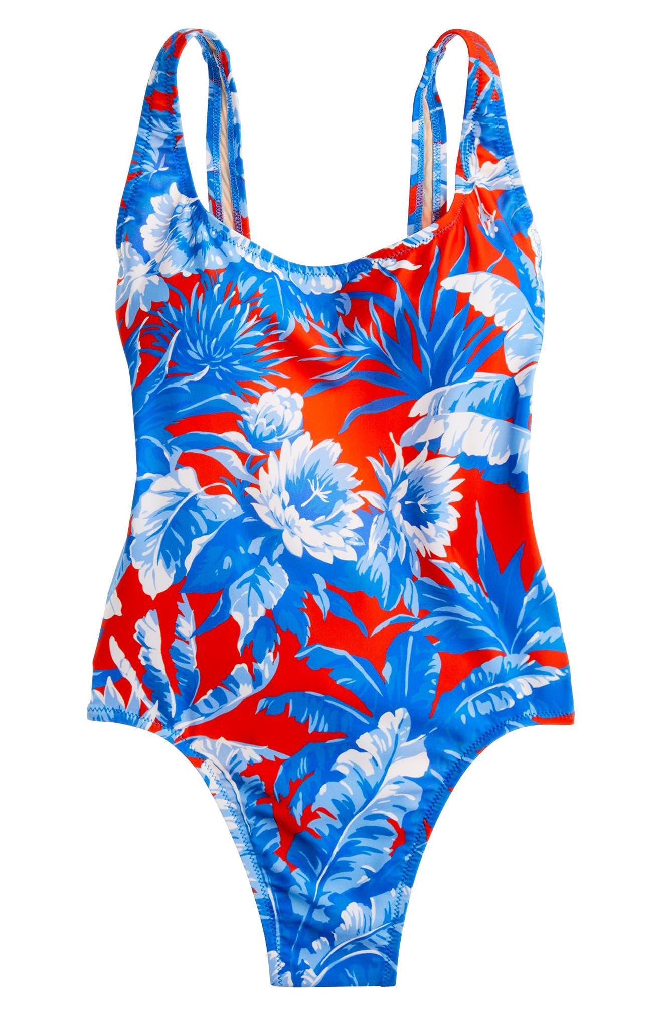 J.CREW,                             Ratti Rio Floral One-Piece Swimsuit,                             Alternate thumbnail 4, color,                             400