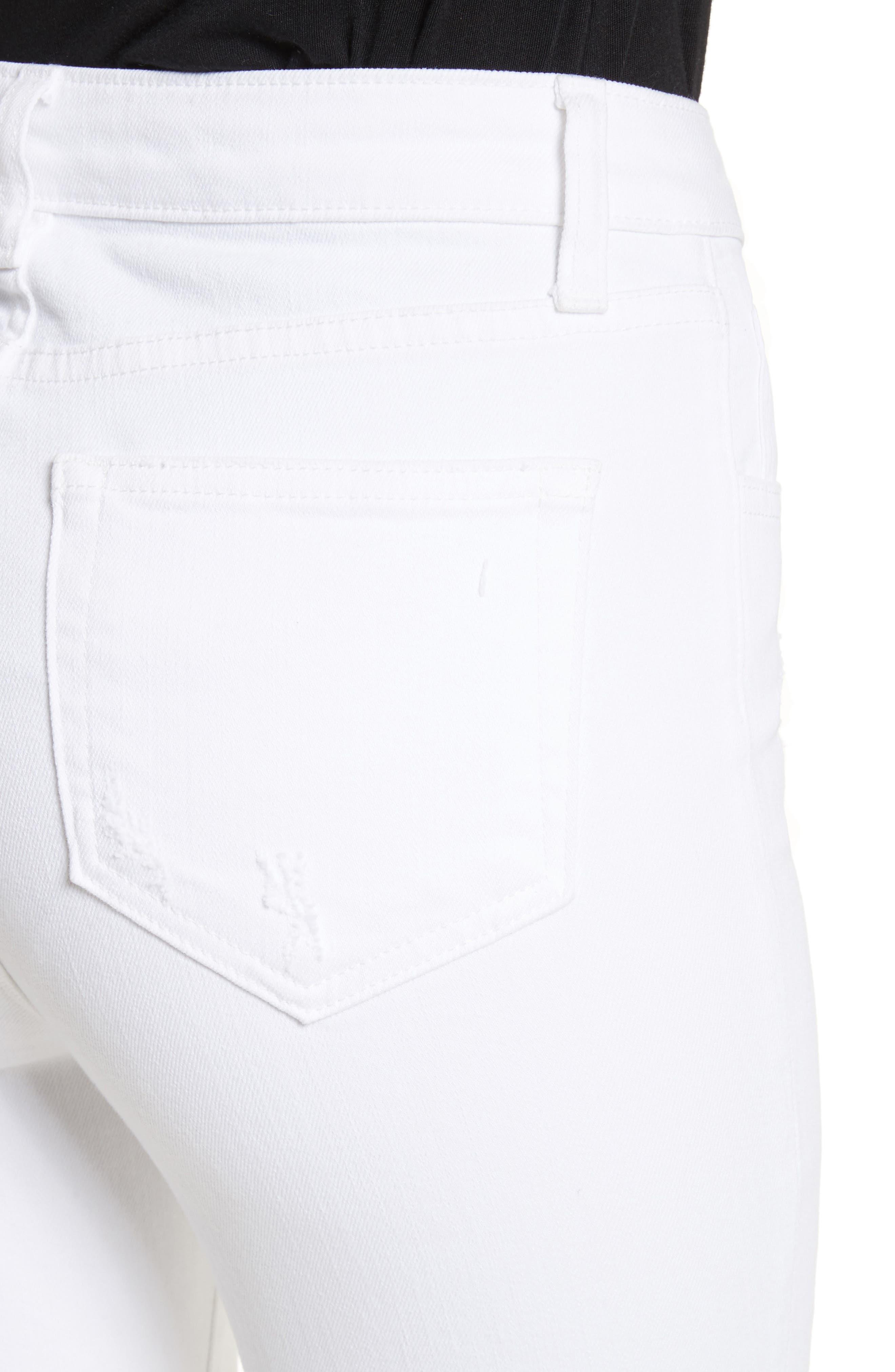 Highline Ripped Skinny Jeans,                             Alternate thumbnail 4, color,                             100