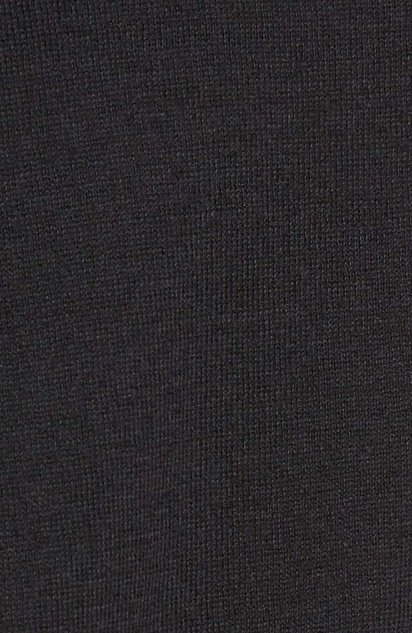Pima Cotton Blend Tie Sweater,                             Alternate thumbnail 6, color,                             001