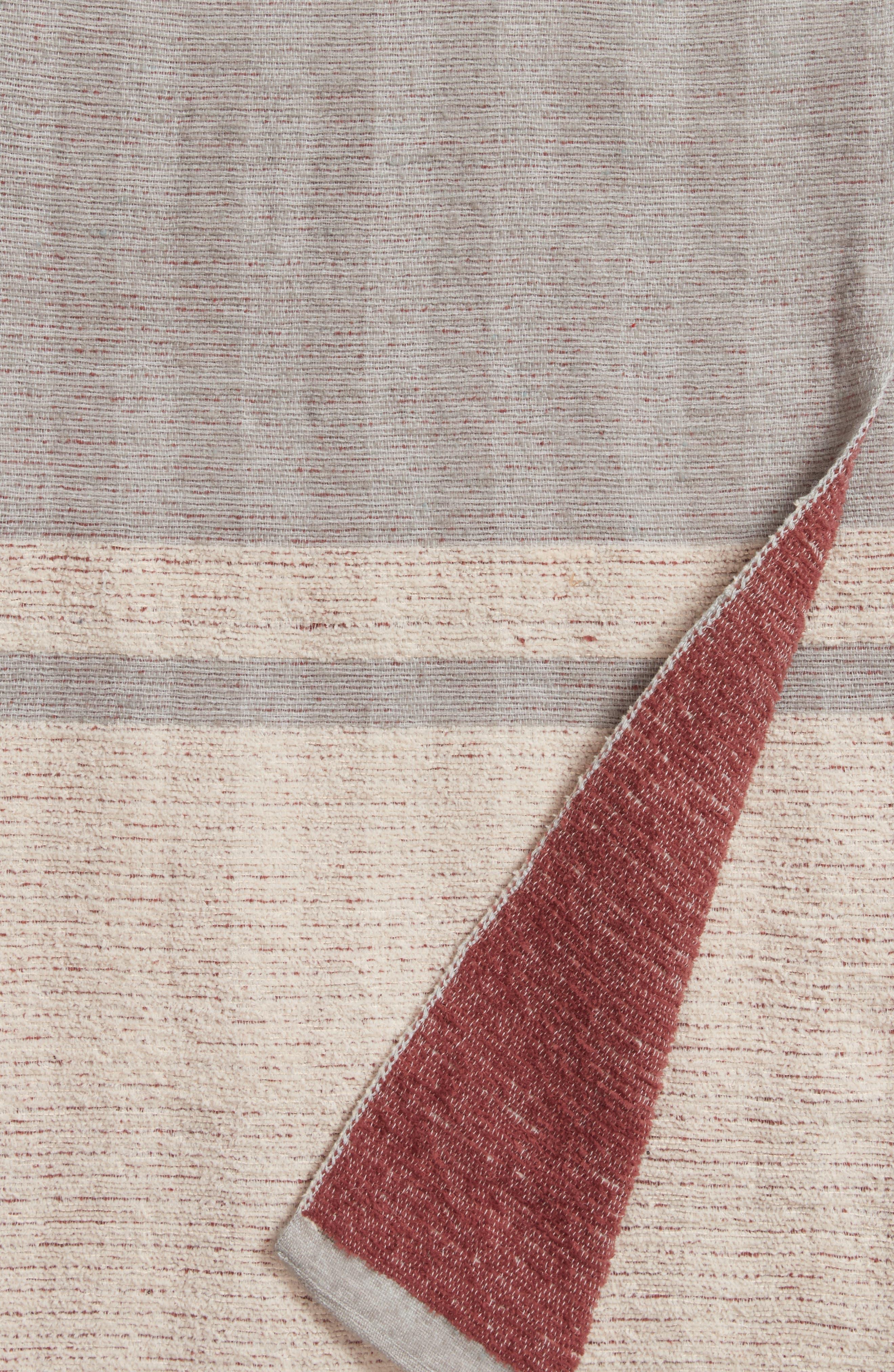 Reversible Stripe Throw,                             Alternate thumbnail 2, color,                             020