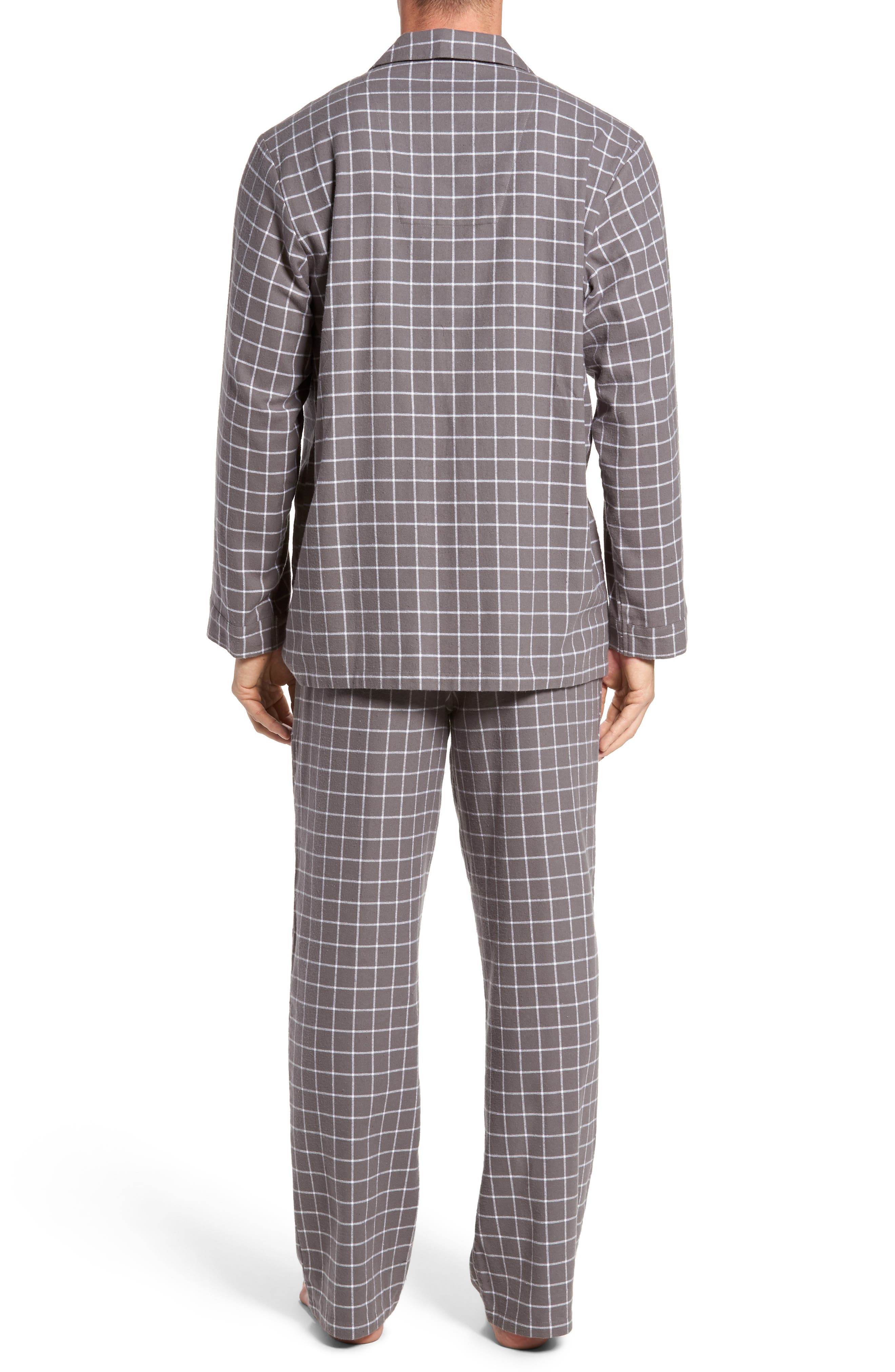 '824' Flannel Pajama Set,                             Alternate thumbnail 32, color,