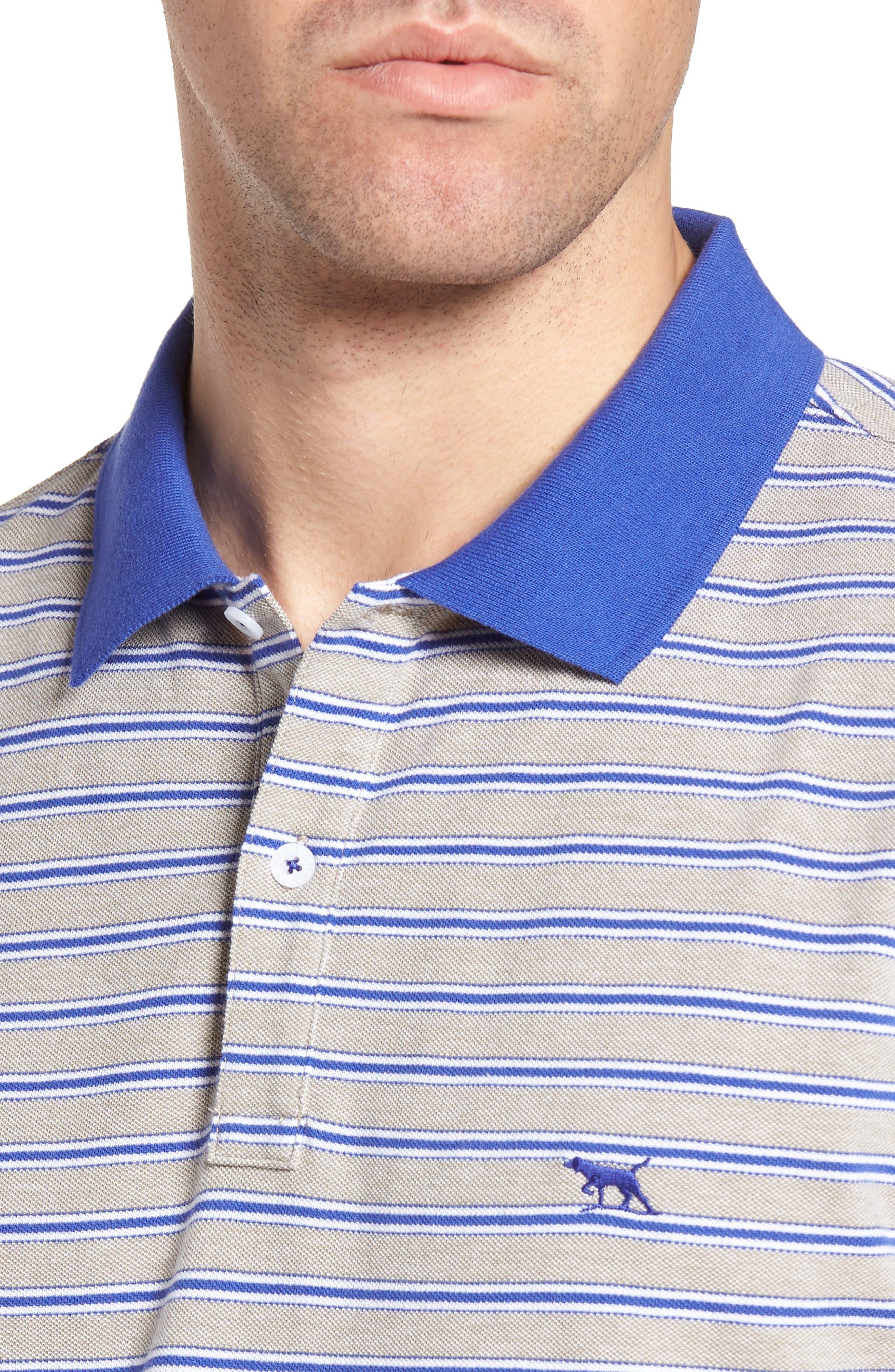 Kempthorne Sports Fit Stripe Piqué Polo,                             Alternate thumbnail 4, color,                             423