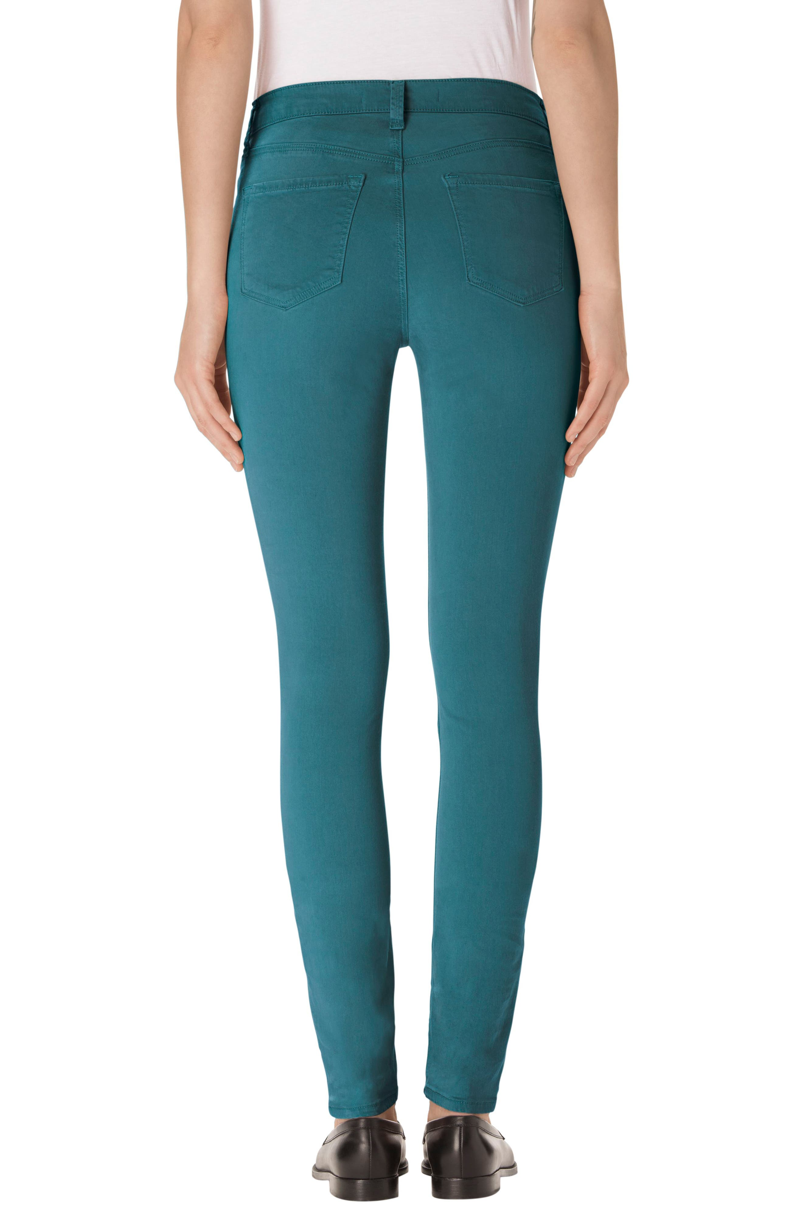 High Waist Ankle Super Skinny Jeans,                             Alternate thumbnail 23, color,