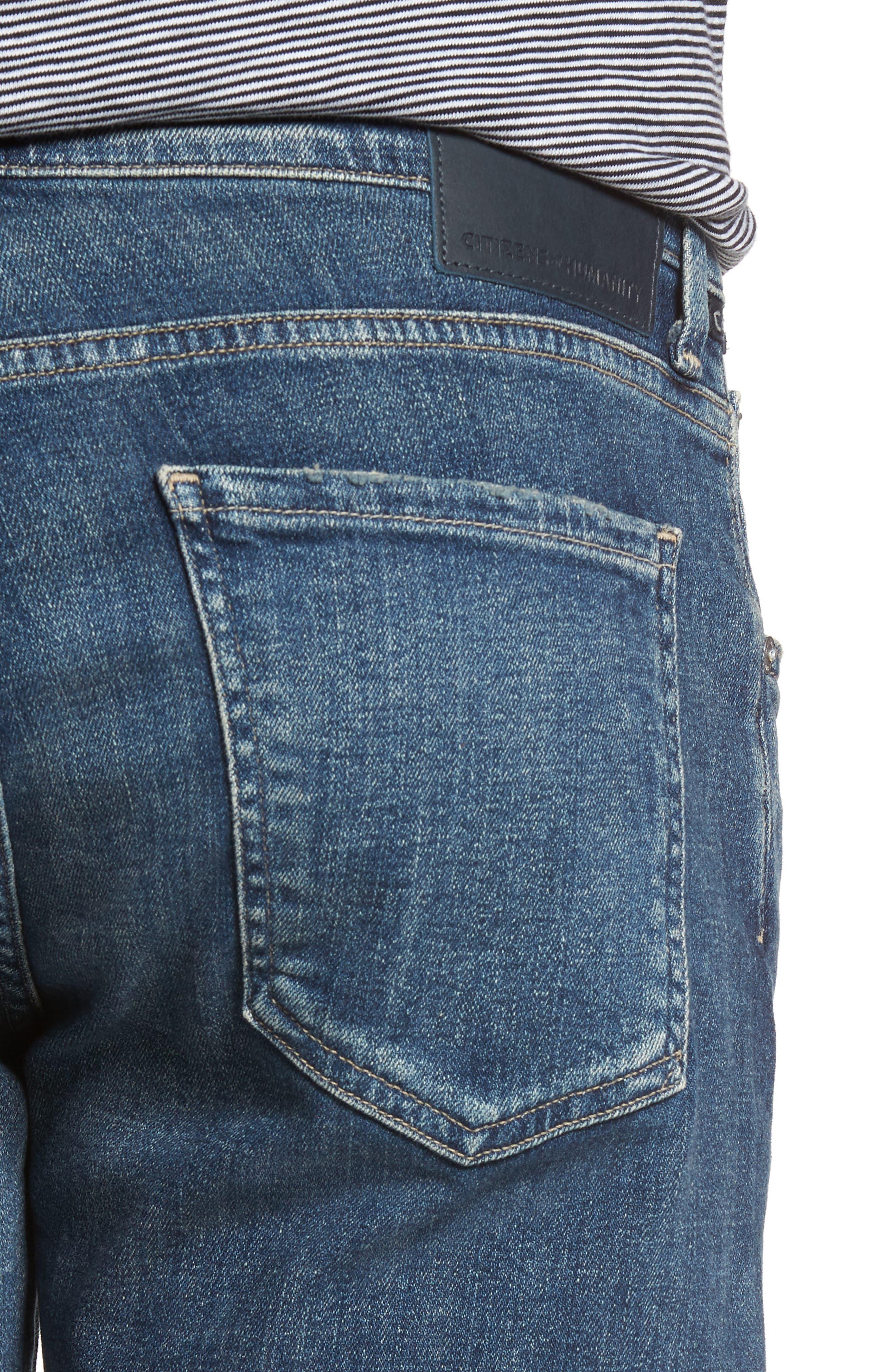 Gage Slim Straight Leg Jeans,                             Alternate thumbnail 4, color,                             REDFORD