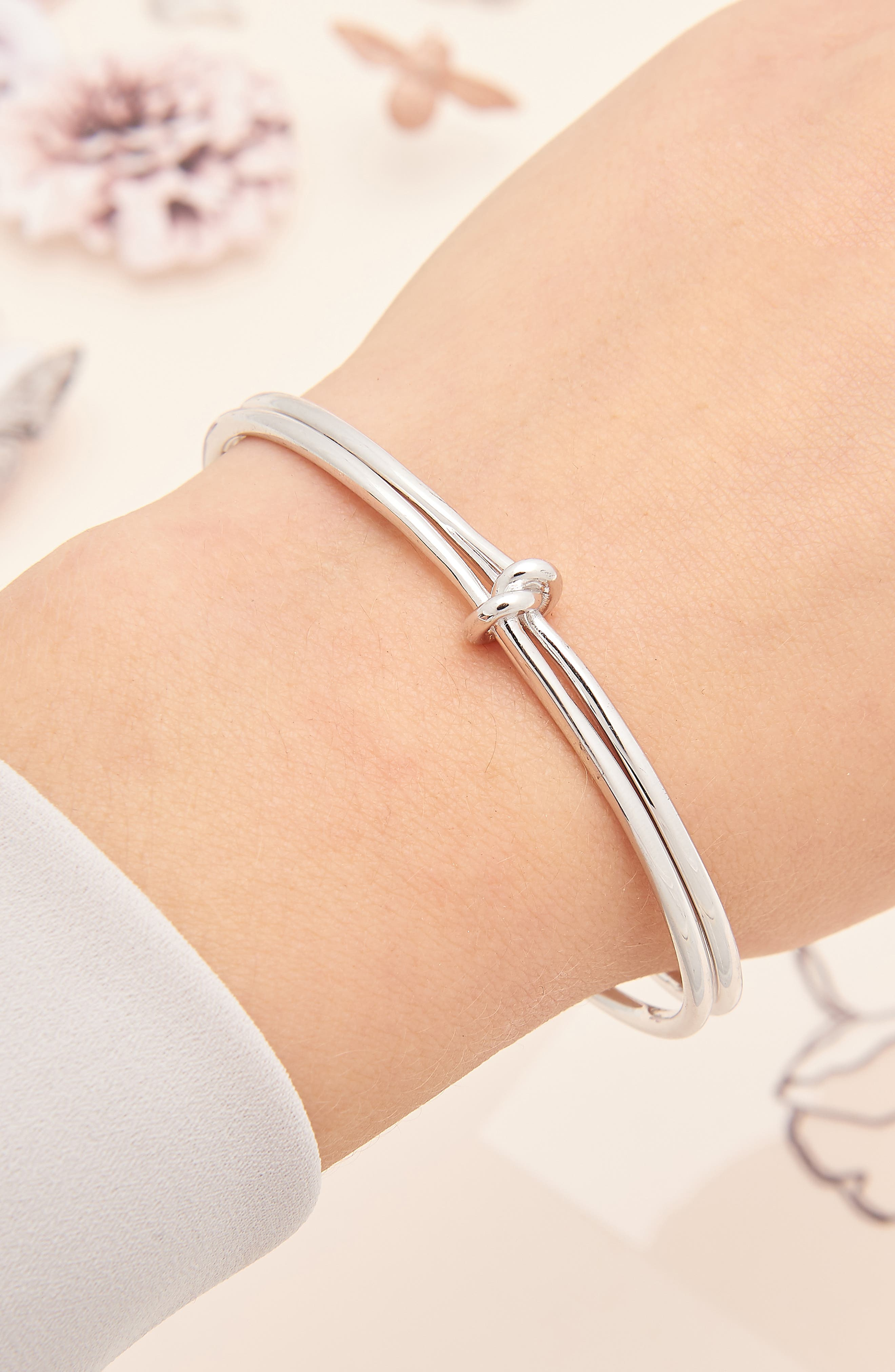 Knot Cuff,                             Alternate thumbnail 2, color,                             SILVER