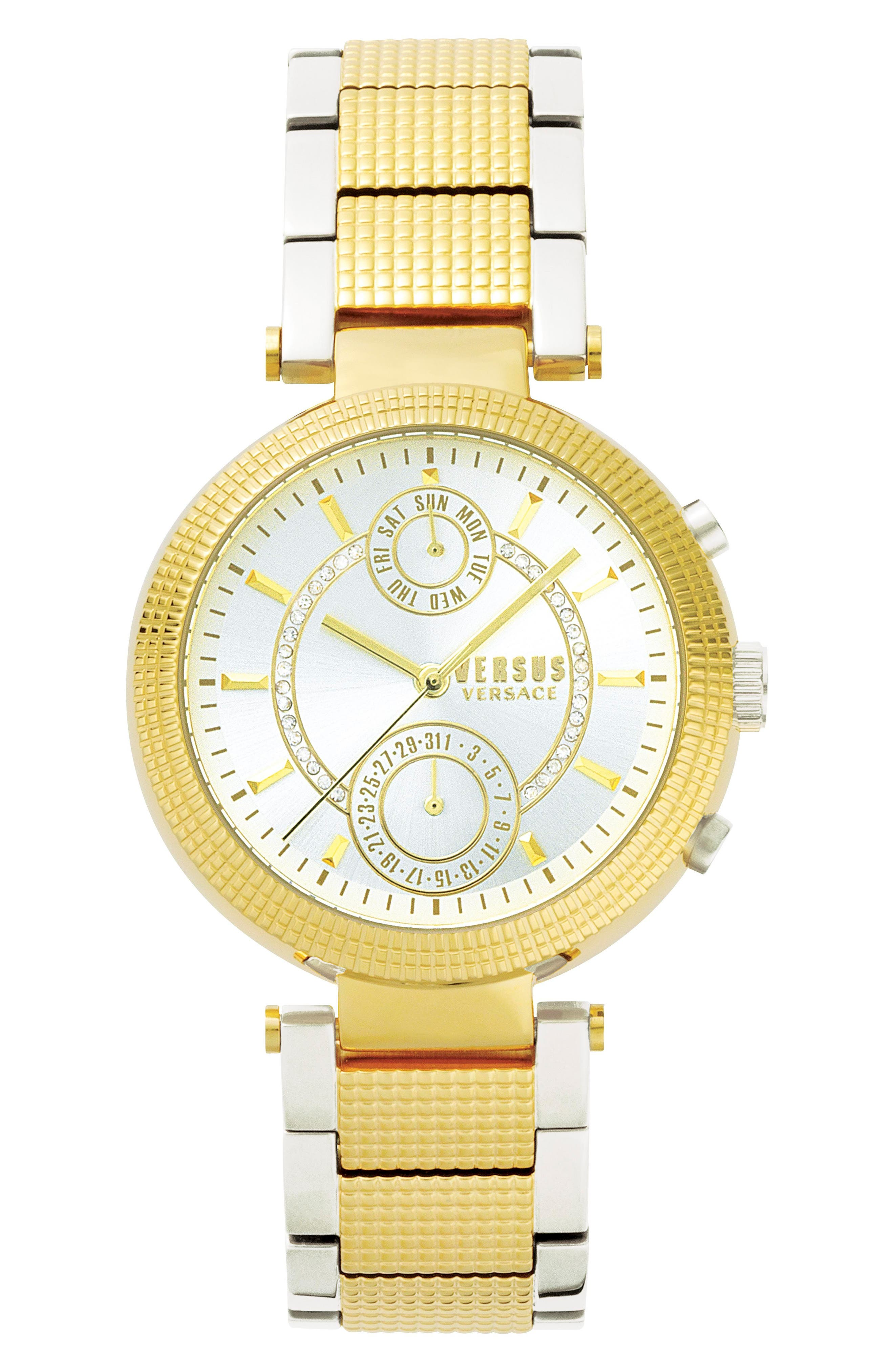 Versus by Versace Star Ferry Chronograph Bracelet Watch, 38mm,                             Main thumbnail 1, color,                             040