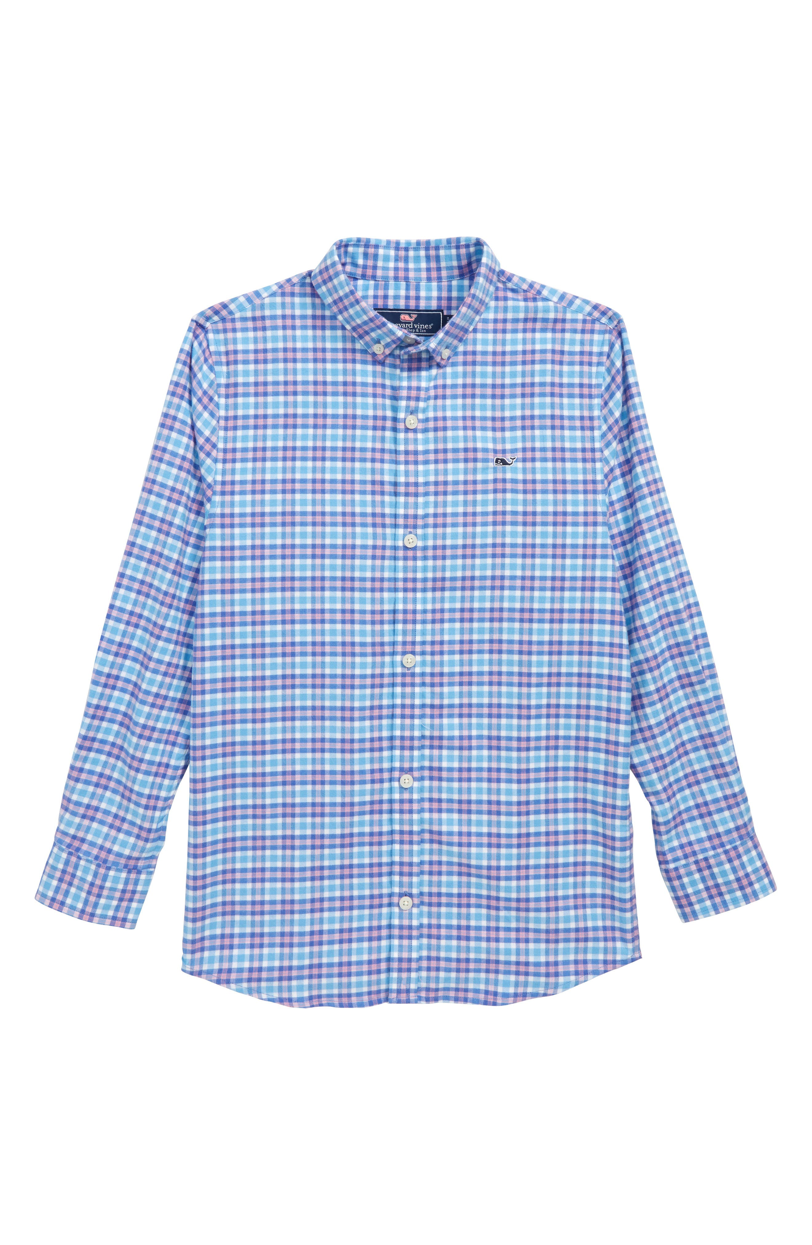 Morgan Way Flannel Whale Shirt,                             Main thumbnail 1, color,                             484