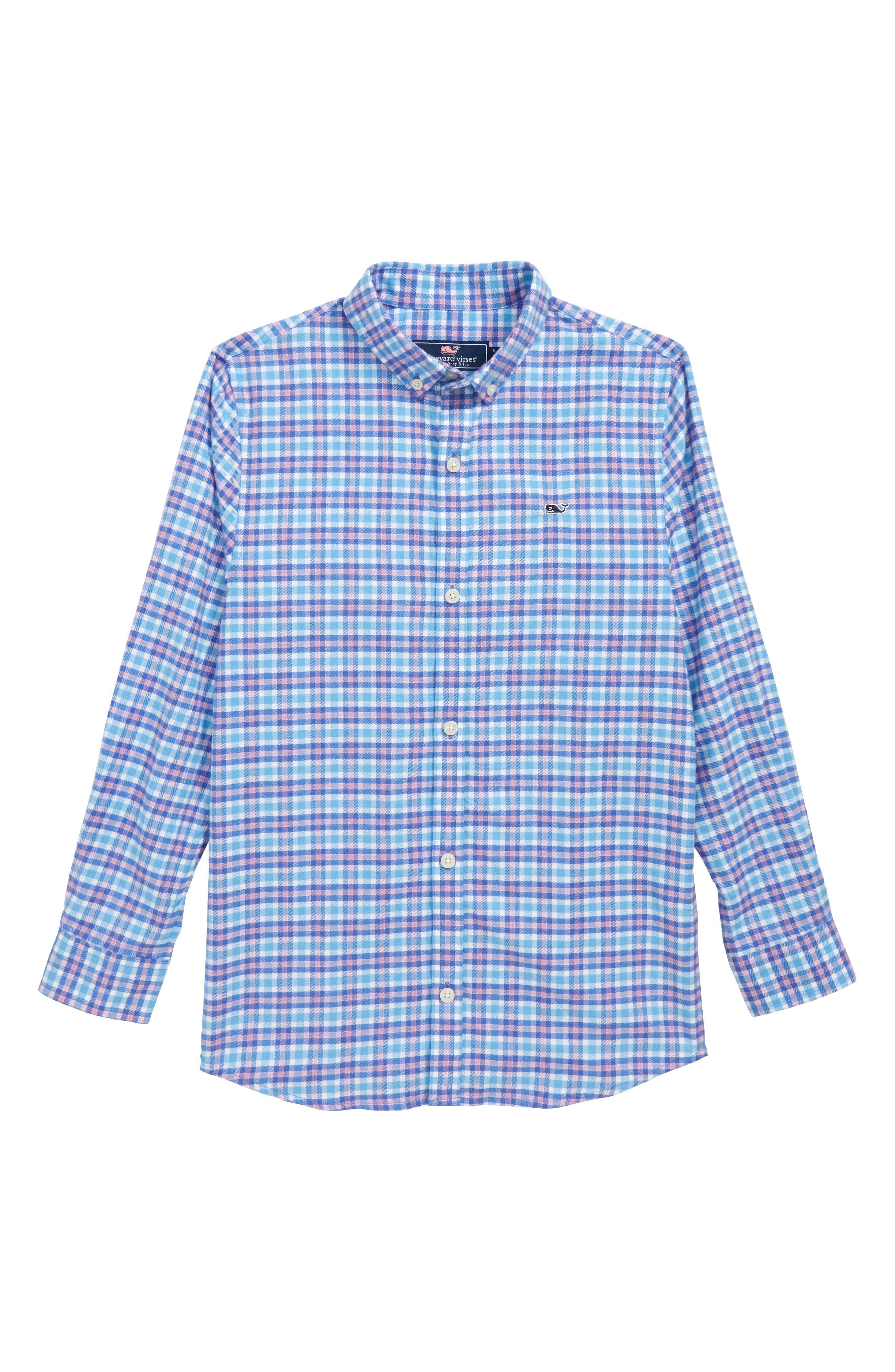 Morgan Way Flannel Whale Shirt,                         Main,                         color, 484