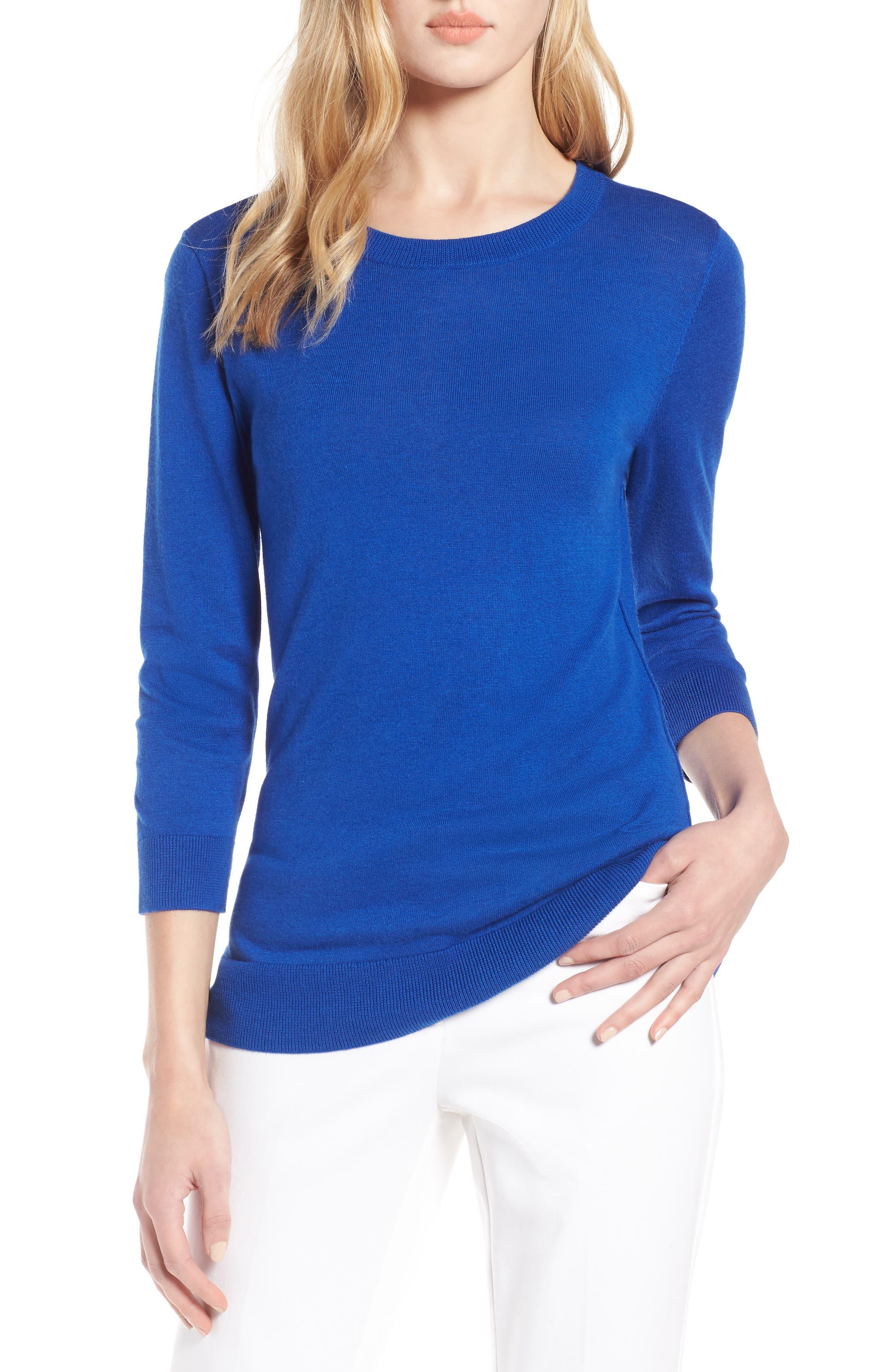Cotton Blend Pullover,                             Main thumbnail 3, color,
