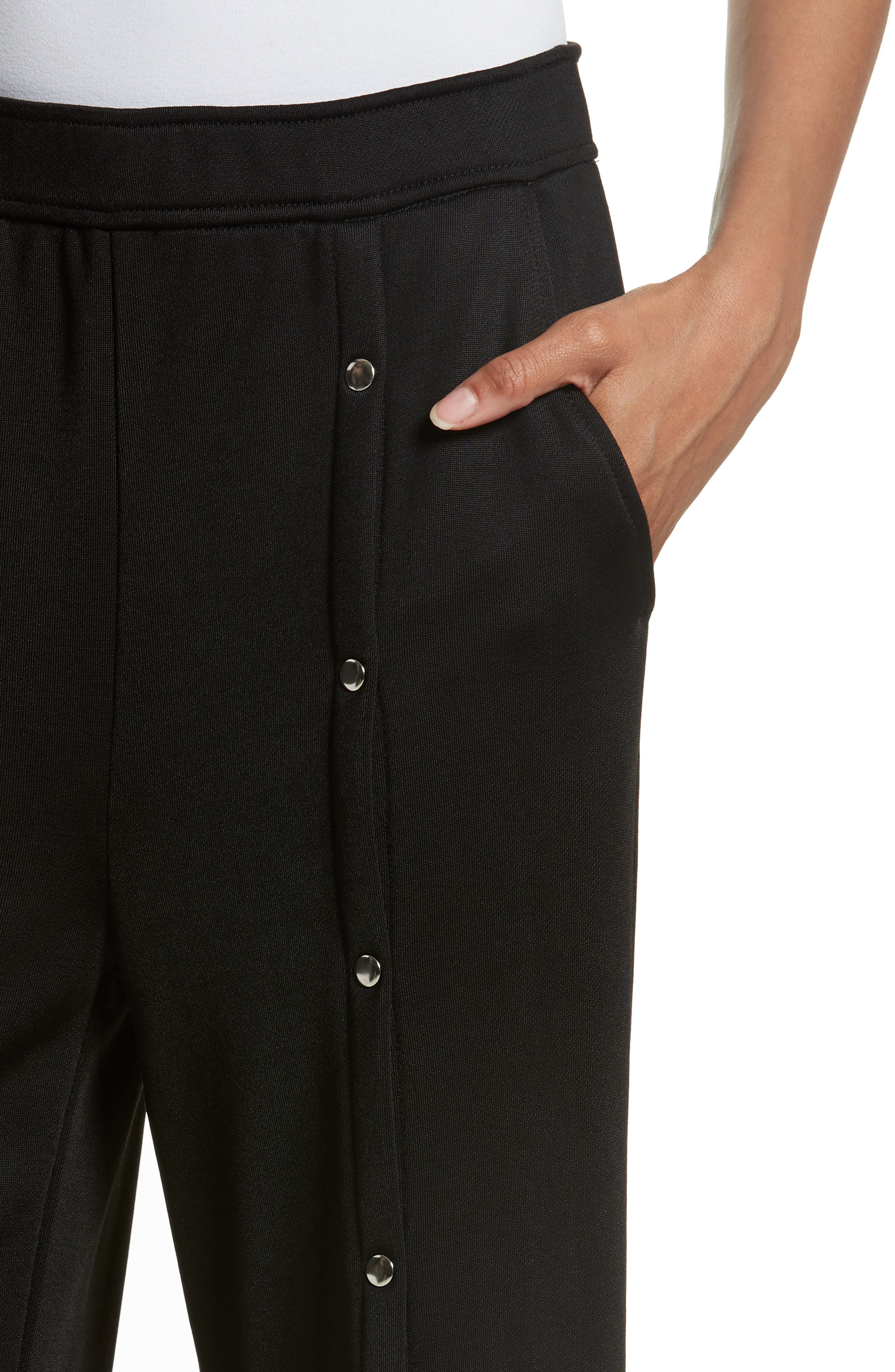 French Terry Wide Leg Pants,                             Alternate thumbnail 4, color,