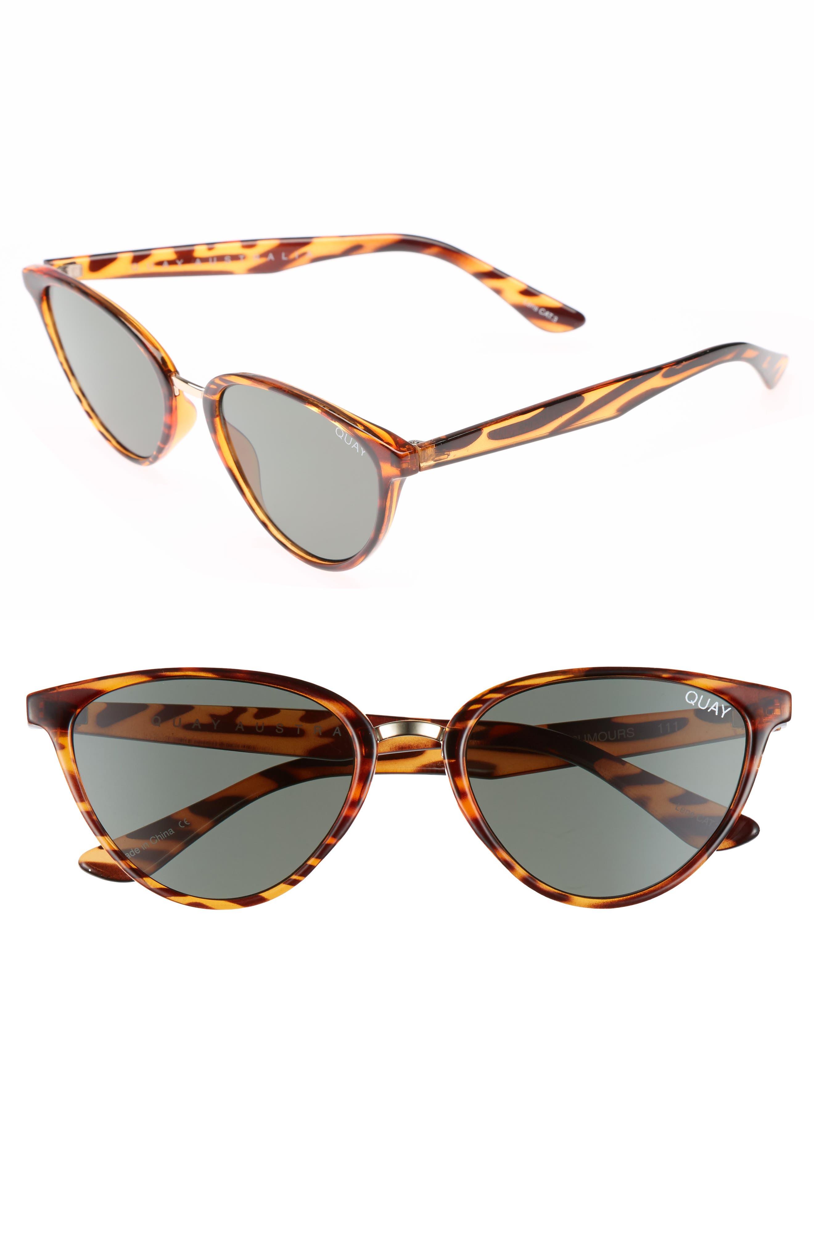 Quay Australia Rumors 57Mm Sunglasses - Tort Green