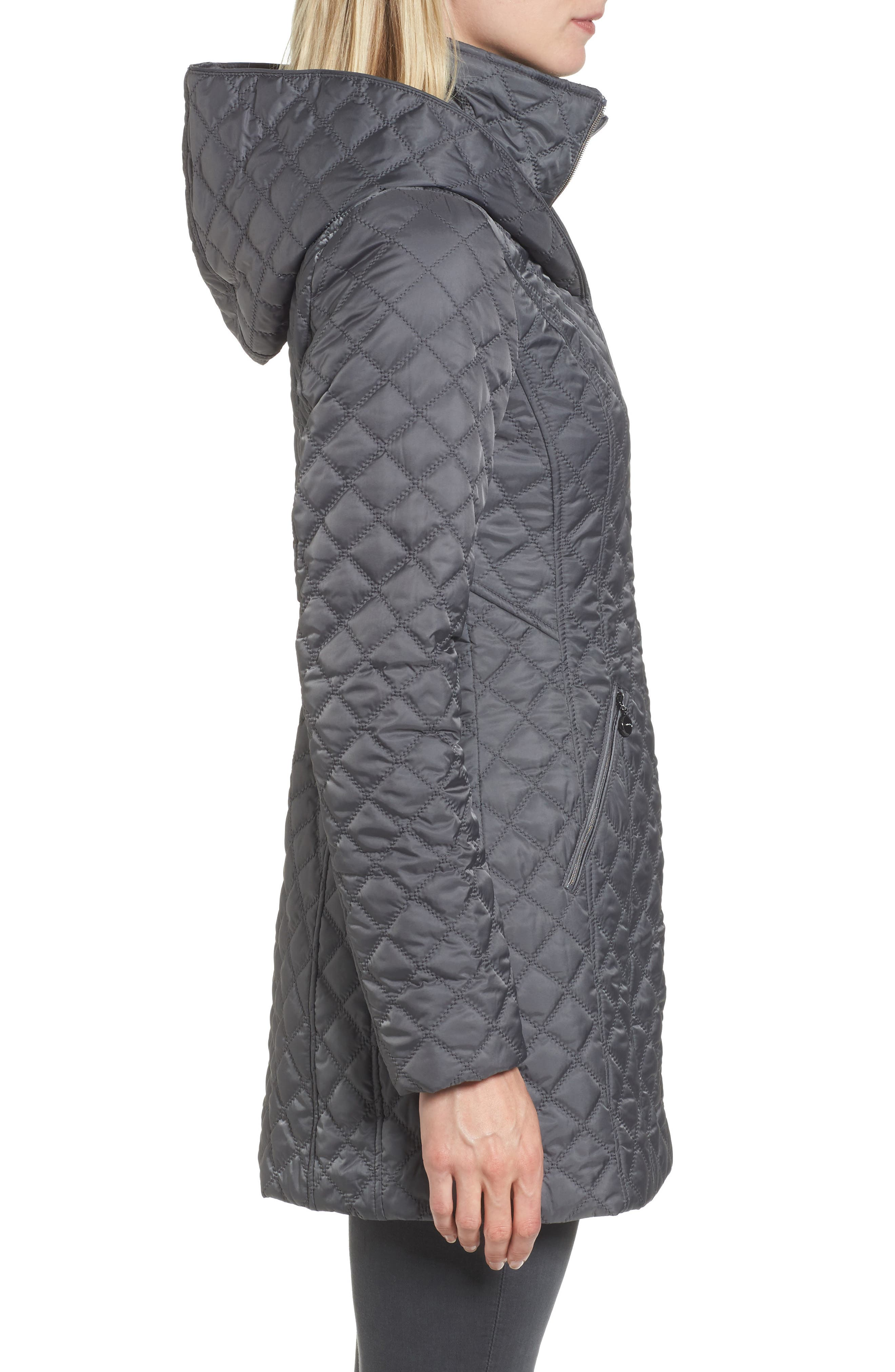 Hooded Quilted Jacket,                             Alternate thumbnail 8, color,