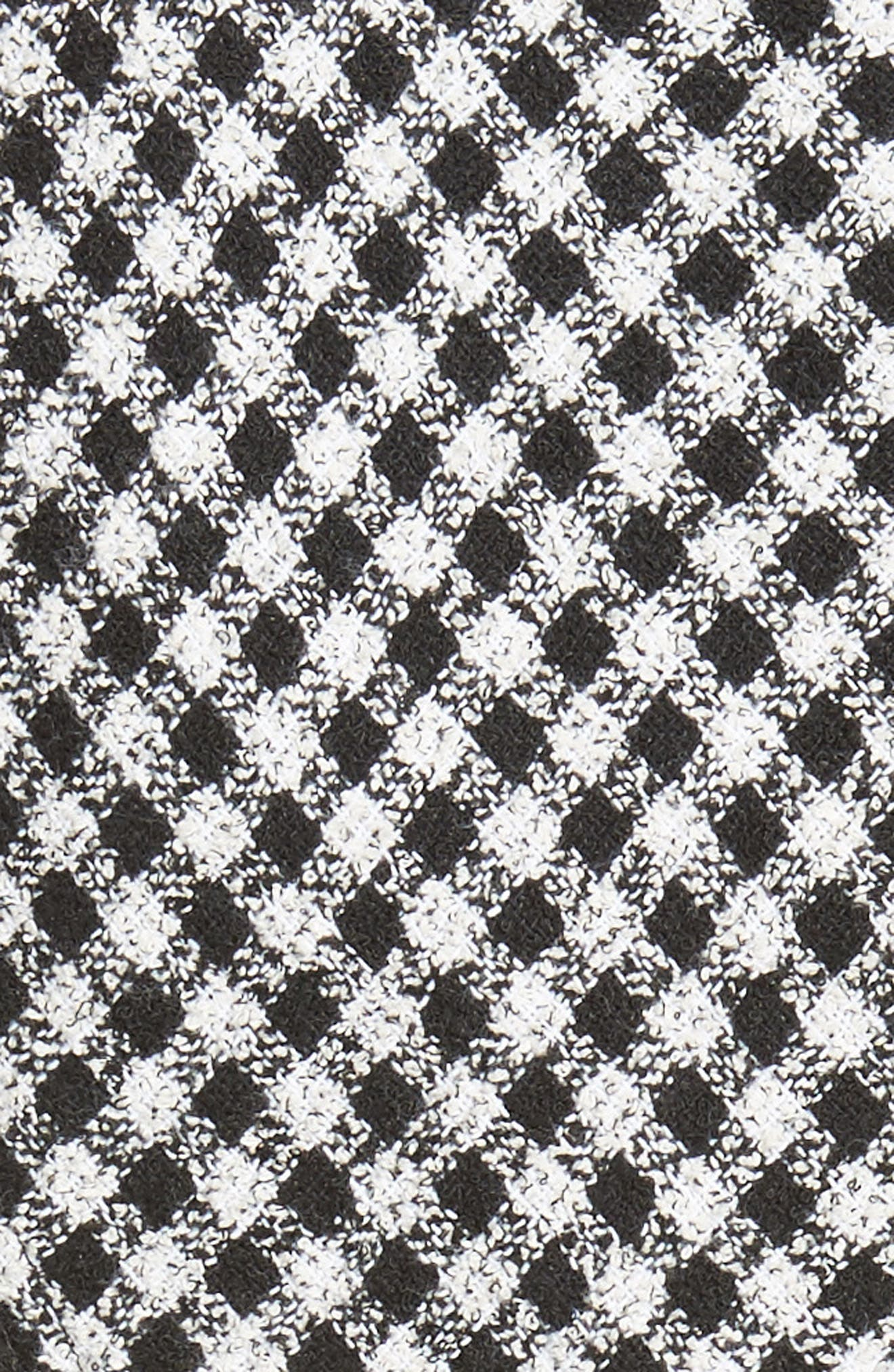 Check Tweed Dress,                             Alternate thumbnail 5, color,                             001