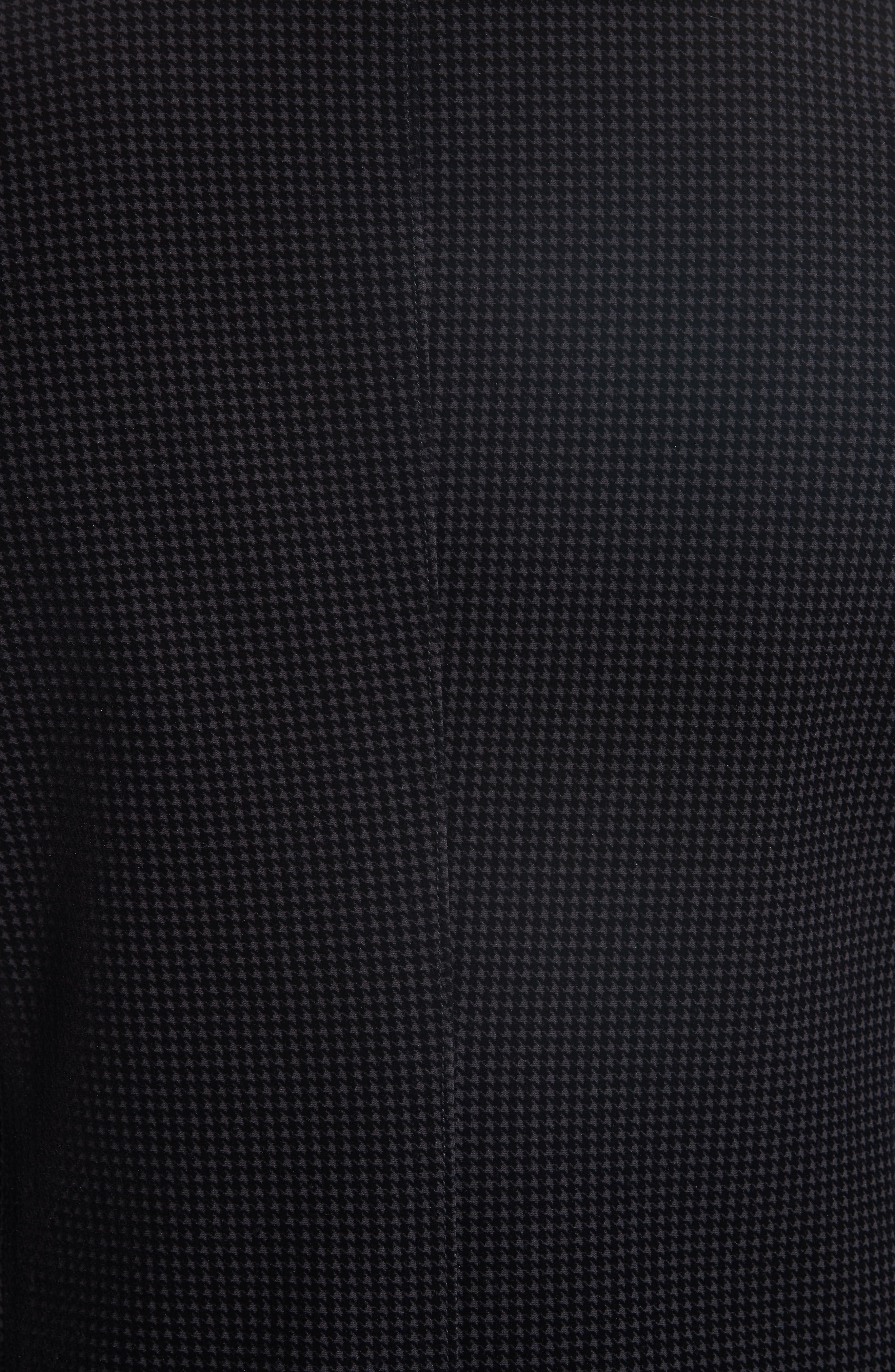 Trim Fit Stretch Houndstooth Sport Coat,                             Alternate thumbnail 6, color,                             001