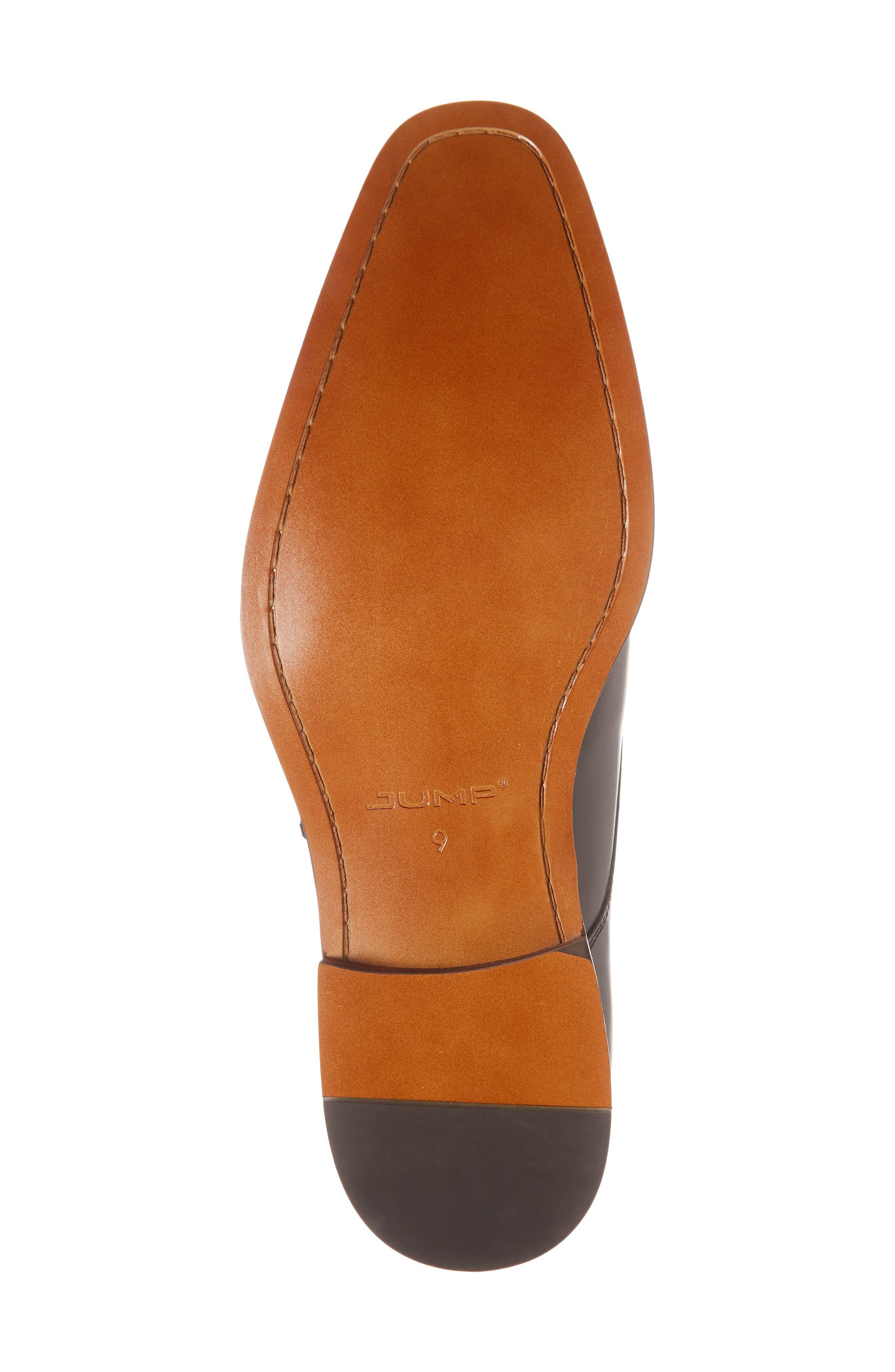 Merlot Single Buckle Monk Shoe,                             Alternate thumbnail 6, color,                             BLACK LEATHER