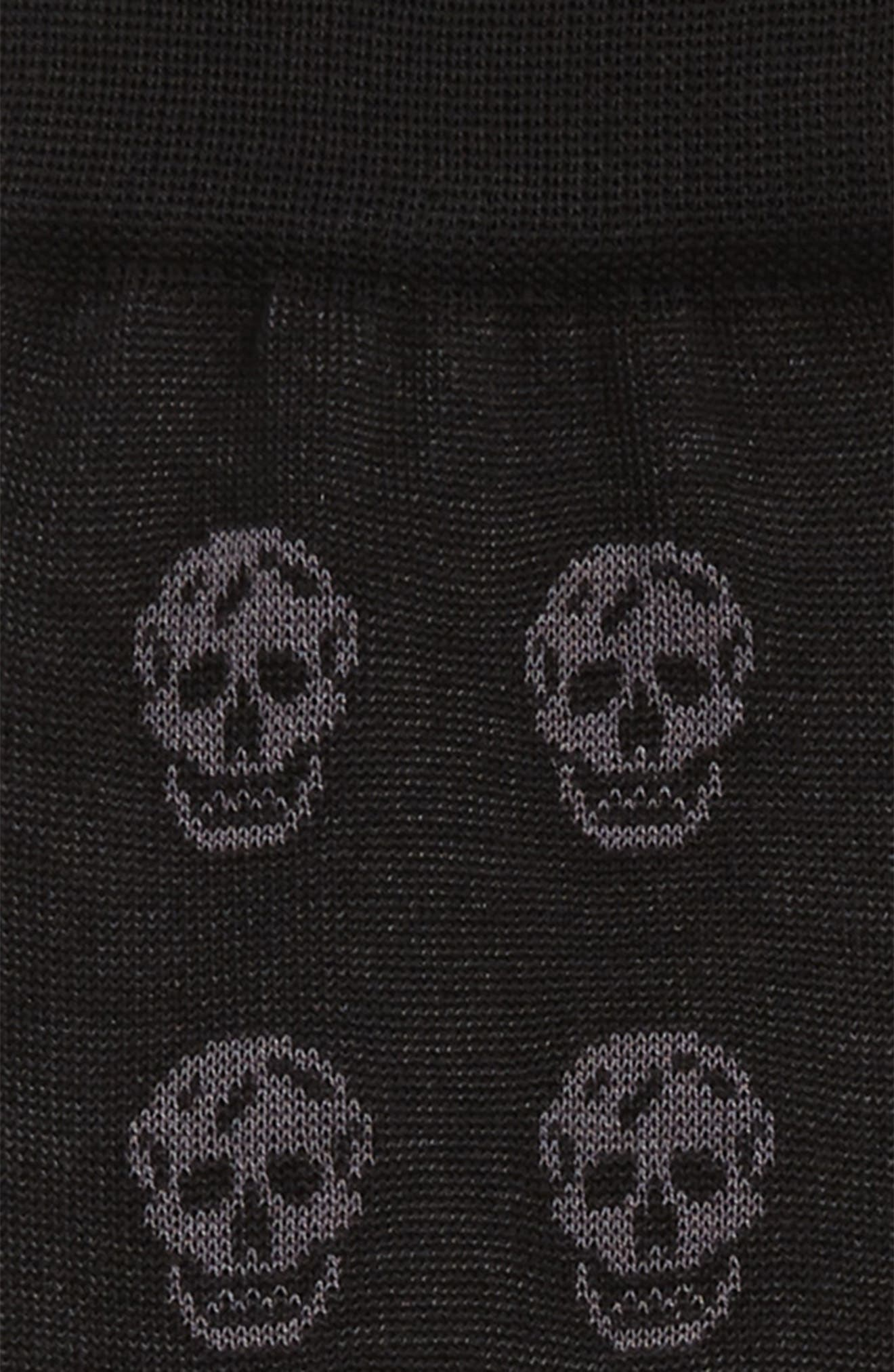 ALEXANDER MCQUEEN,                             Skull Socks,                             Alternate thumbnail 2, color,                             BLACK AND GREY