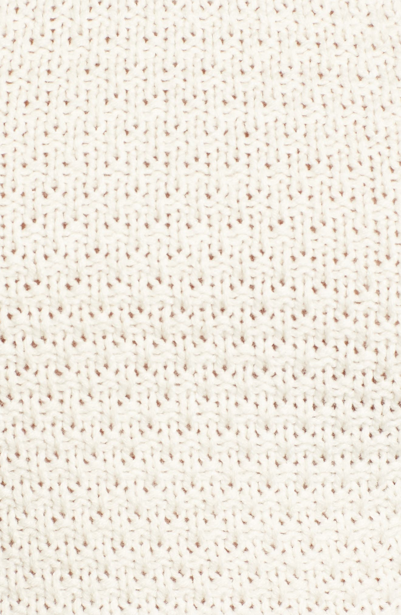 Fringe Sweater Halter Top,                             Alternate thumbnail 6, color,