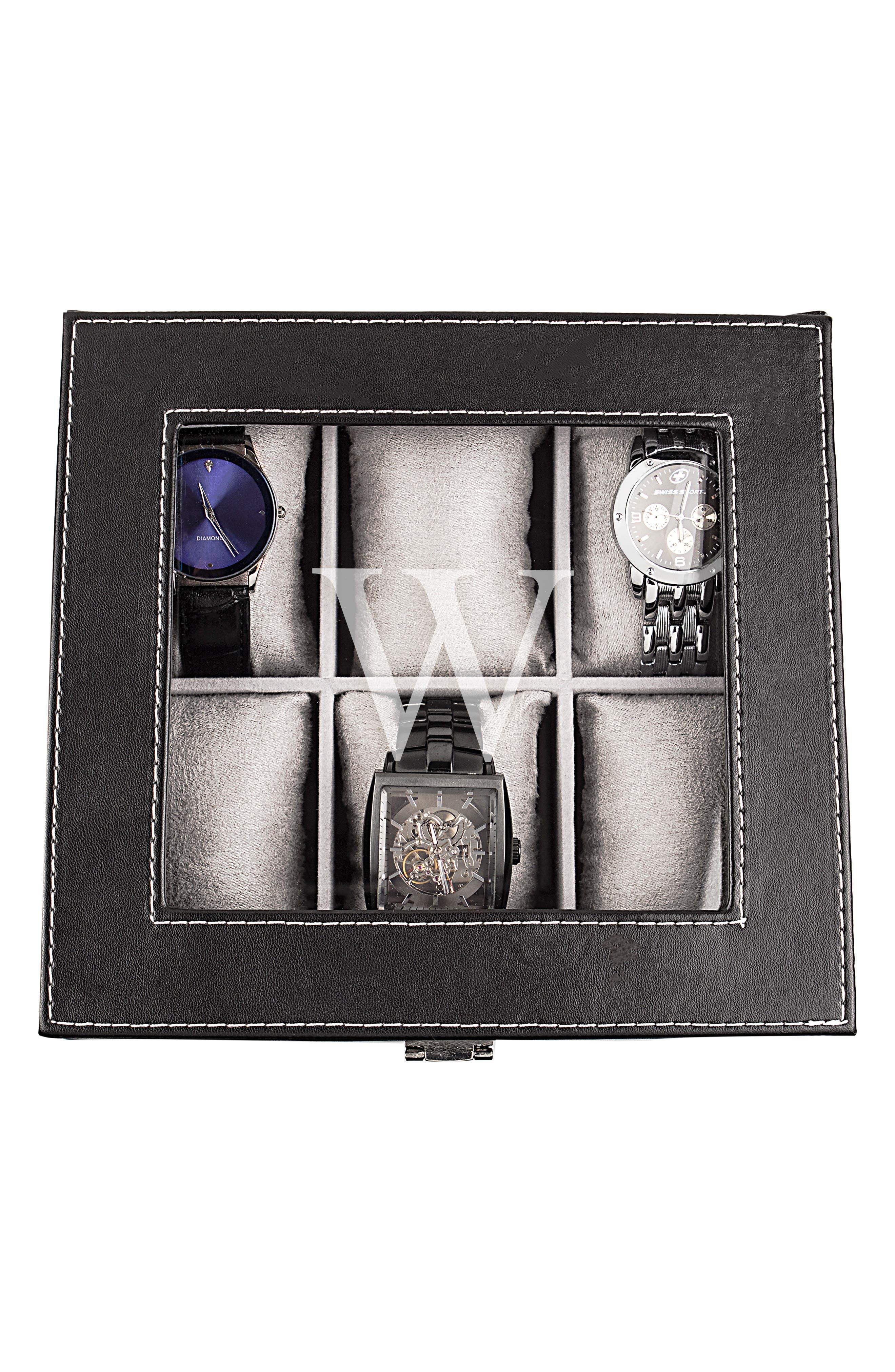 Monogram Watch Box,                             Alternate thumbnail 3, color,                             W
