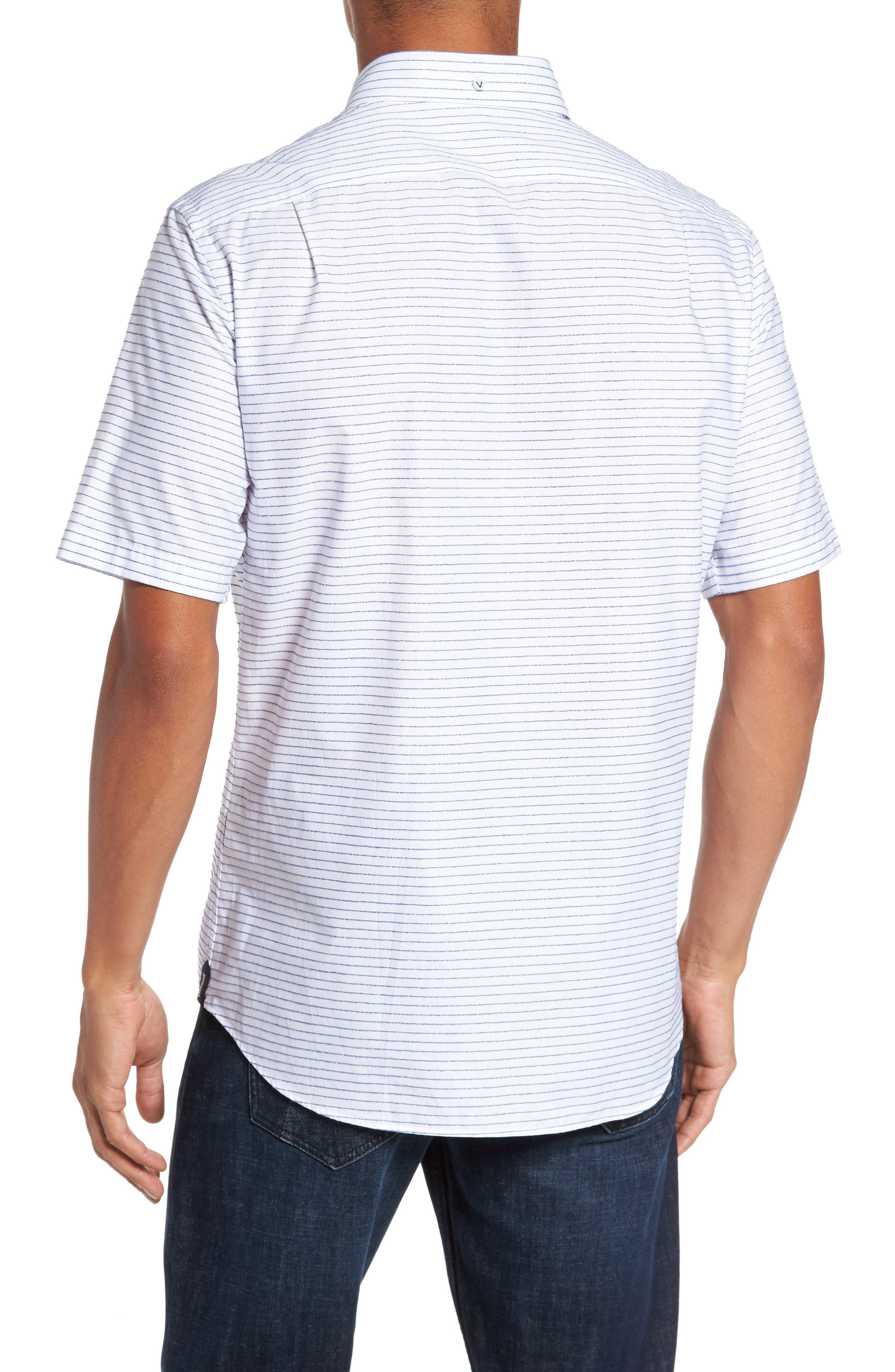 Slim Fit Stripe Sport Shirt,                             Alternate thumbnail 2, color,                             163