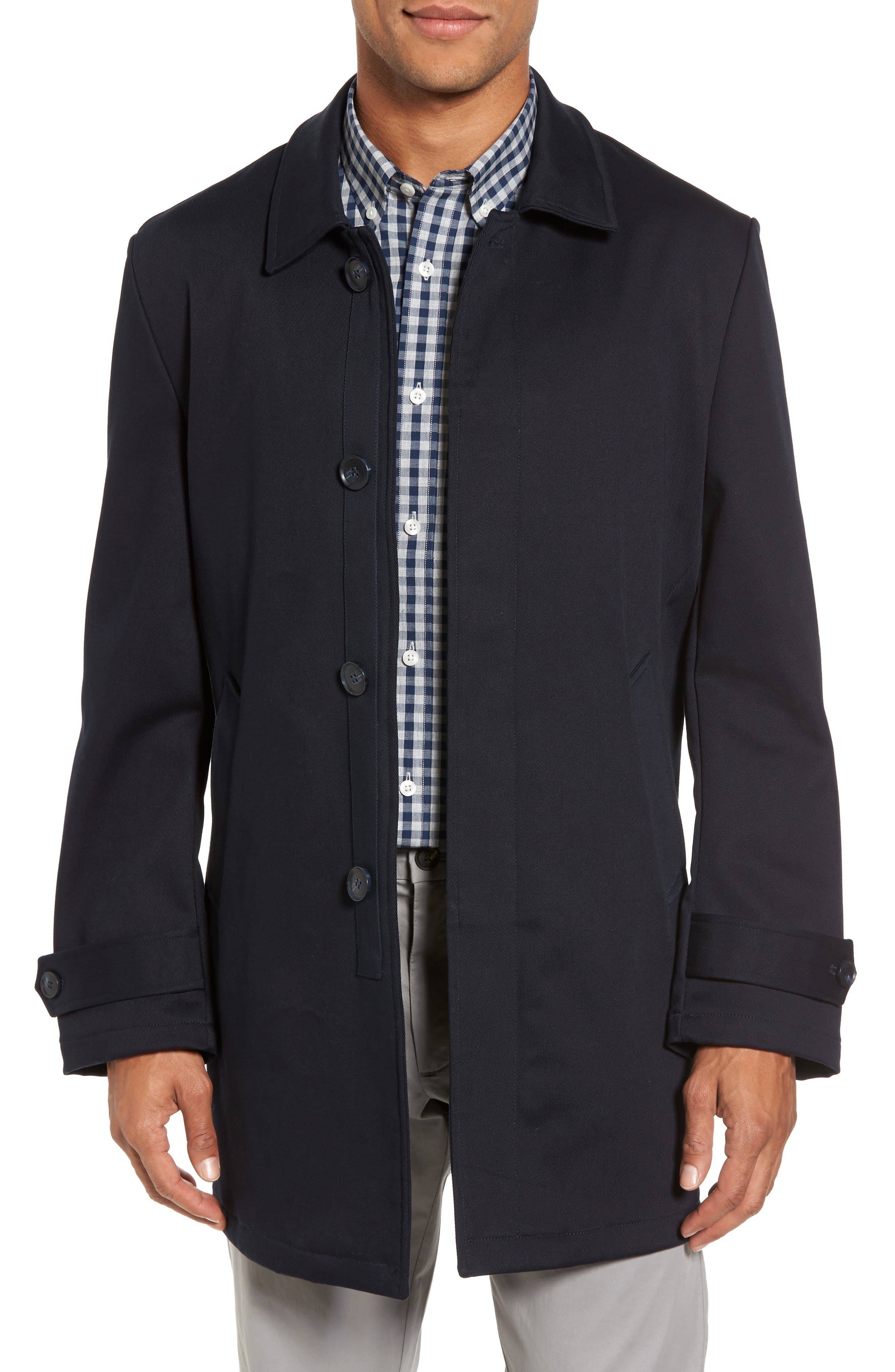Grayson Stretch Cotton Blend Car Coat,                         Main,                         color,