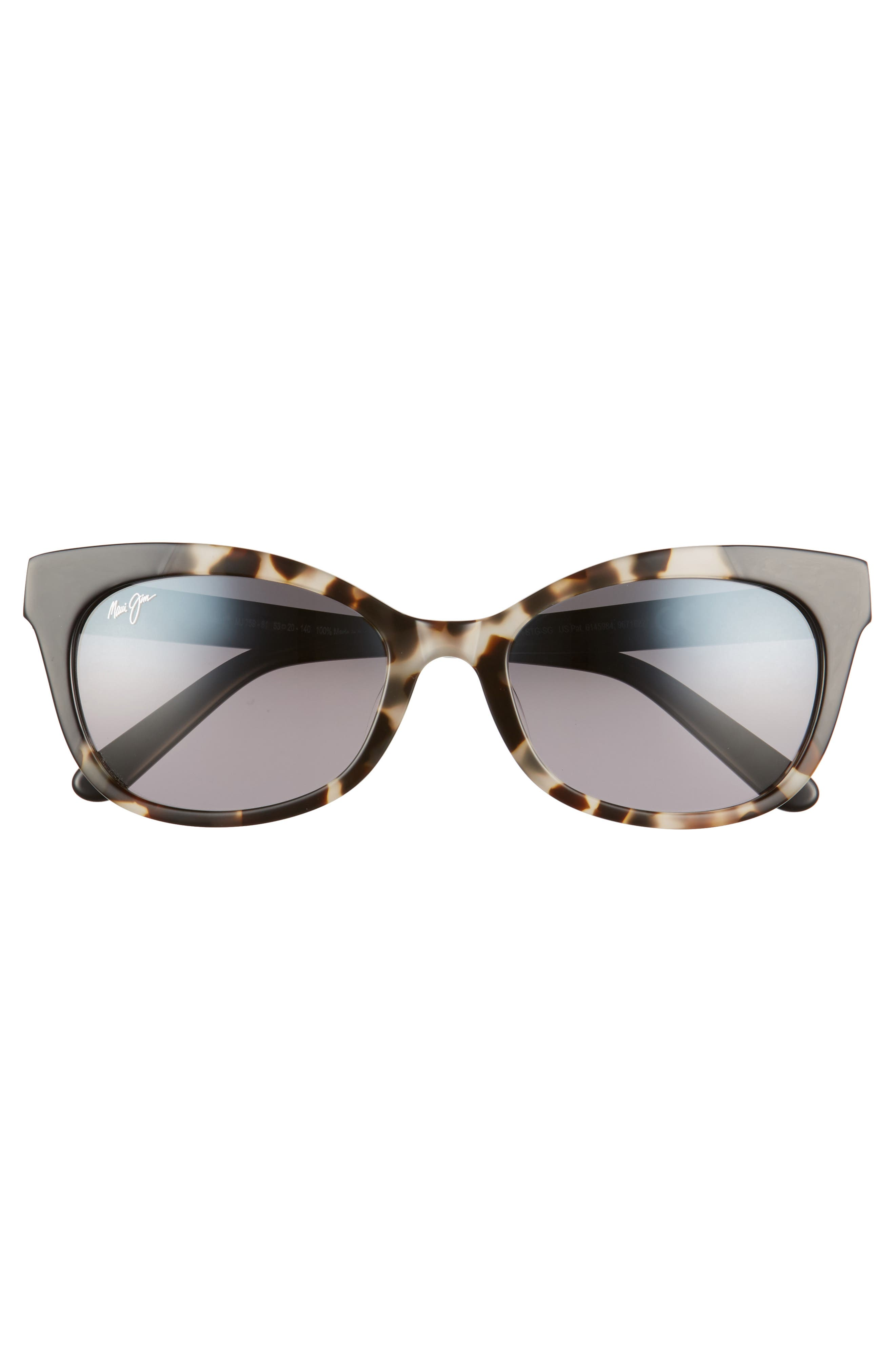 Ilima 53mm PolarizedPlus2<sup>®</sup> Cat Eye Sunglasses,                             Alternate thumbnail 3, color,                             WHITE TOKYO/ GLOSS BLACK