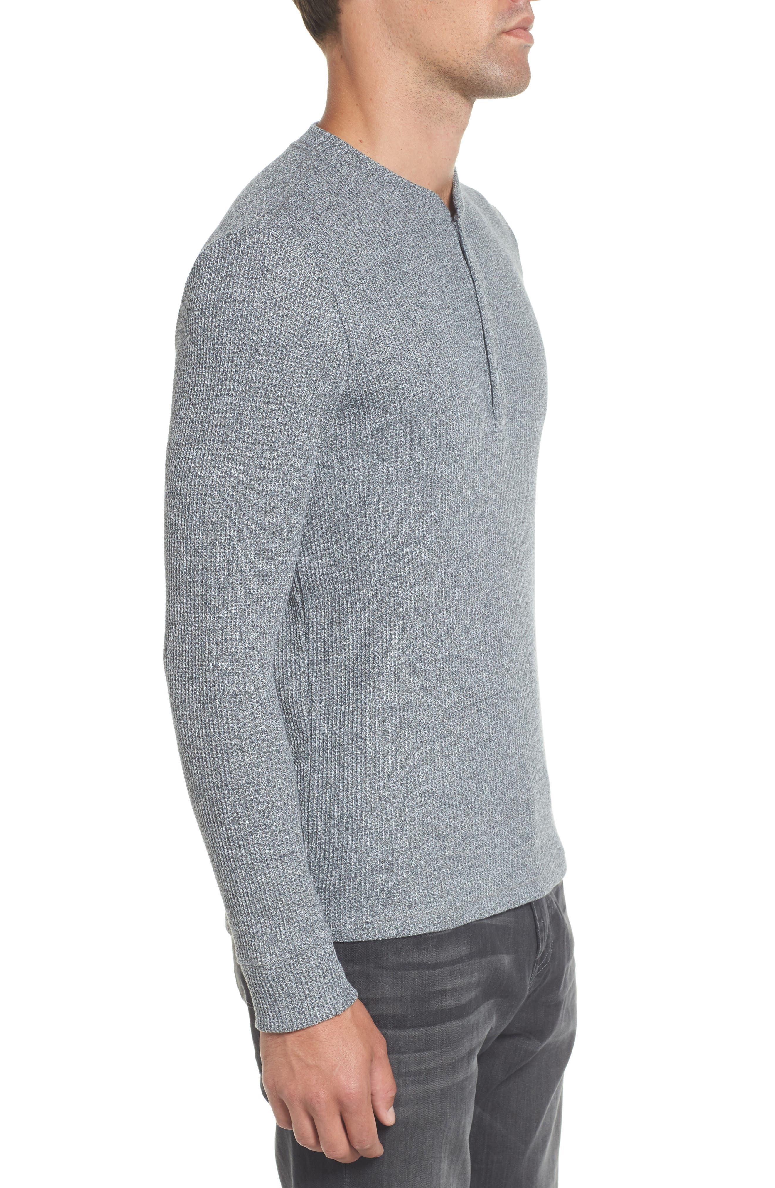 Slim Fit Long Sleeve Henley Shirt,                             Alternate thumbnail 3, color,                             200