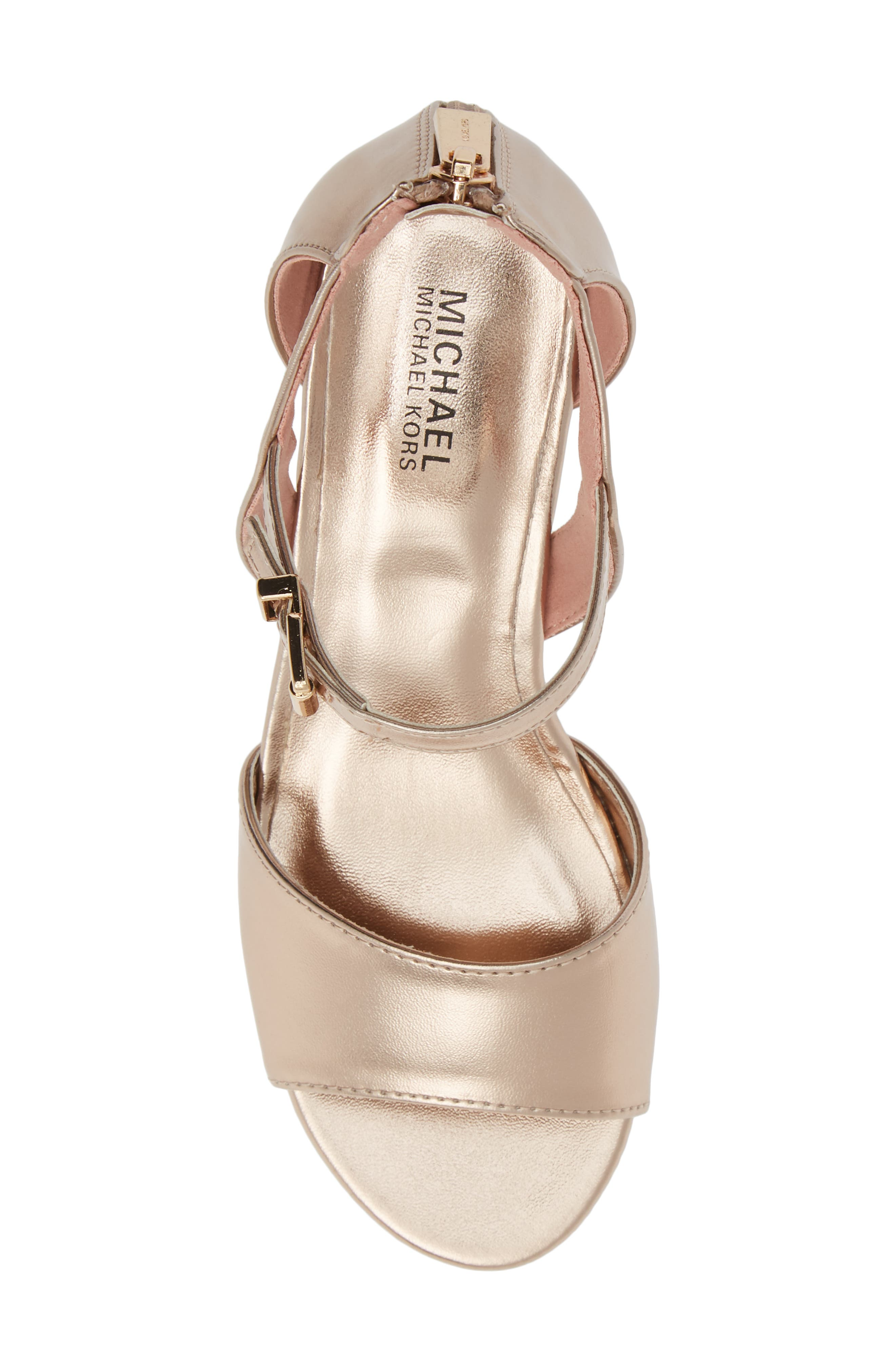 Gemini Jones Sandal,                             Alternate thumbnail 5, color,                             ROSE GOLD