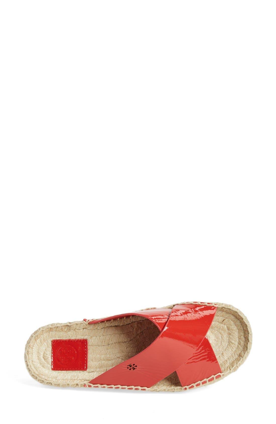 TORY BURCH,                             'Bima' Espadrille Slide Sandal,                             Alternate thumbnail 4, color,                             601
