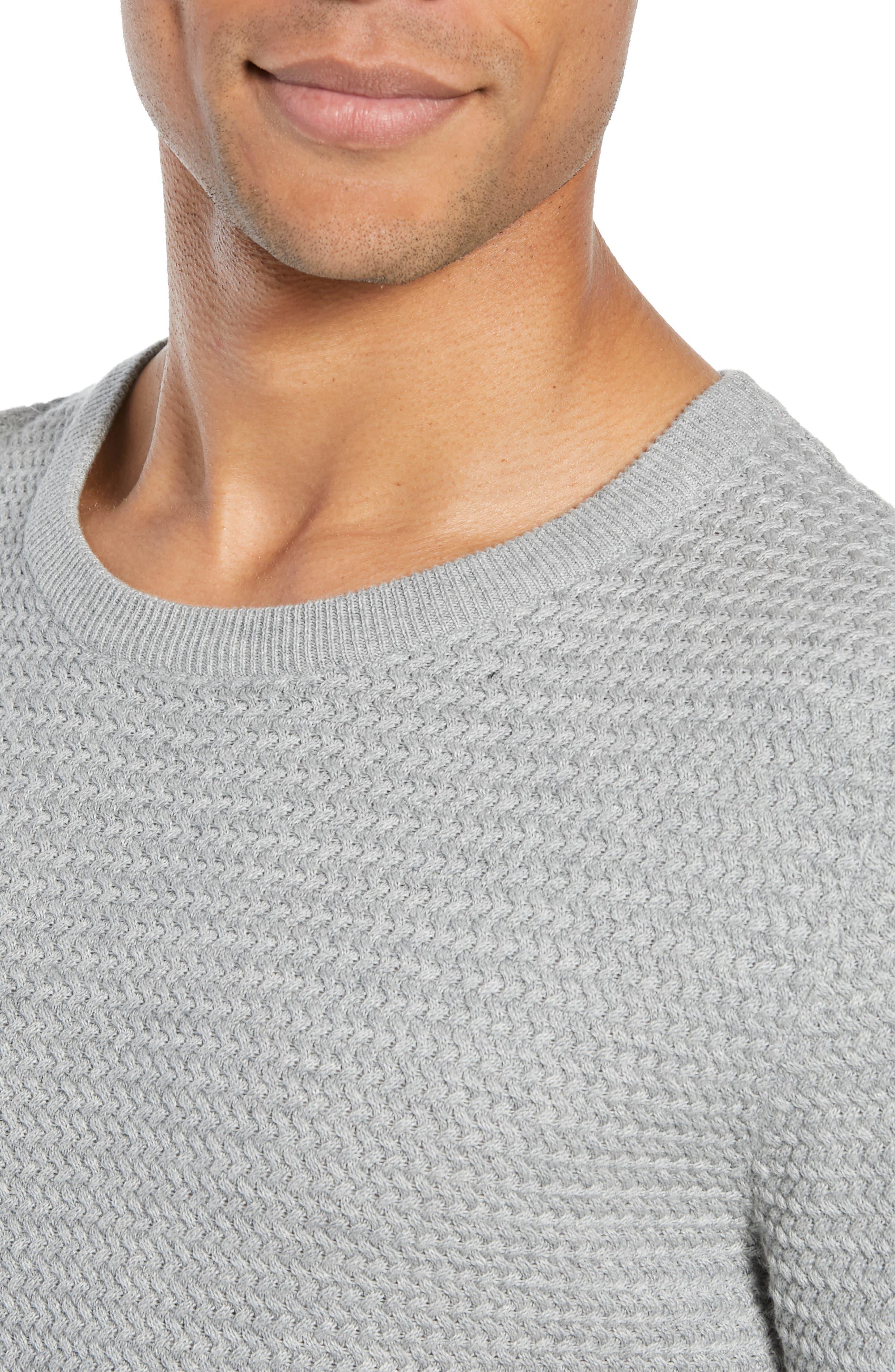 Martin Regular Fit Crewneck Sweater,                             Alternate thumbnail 4, color,                             MEDIUM GREY