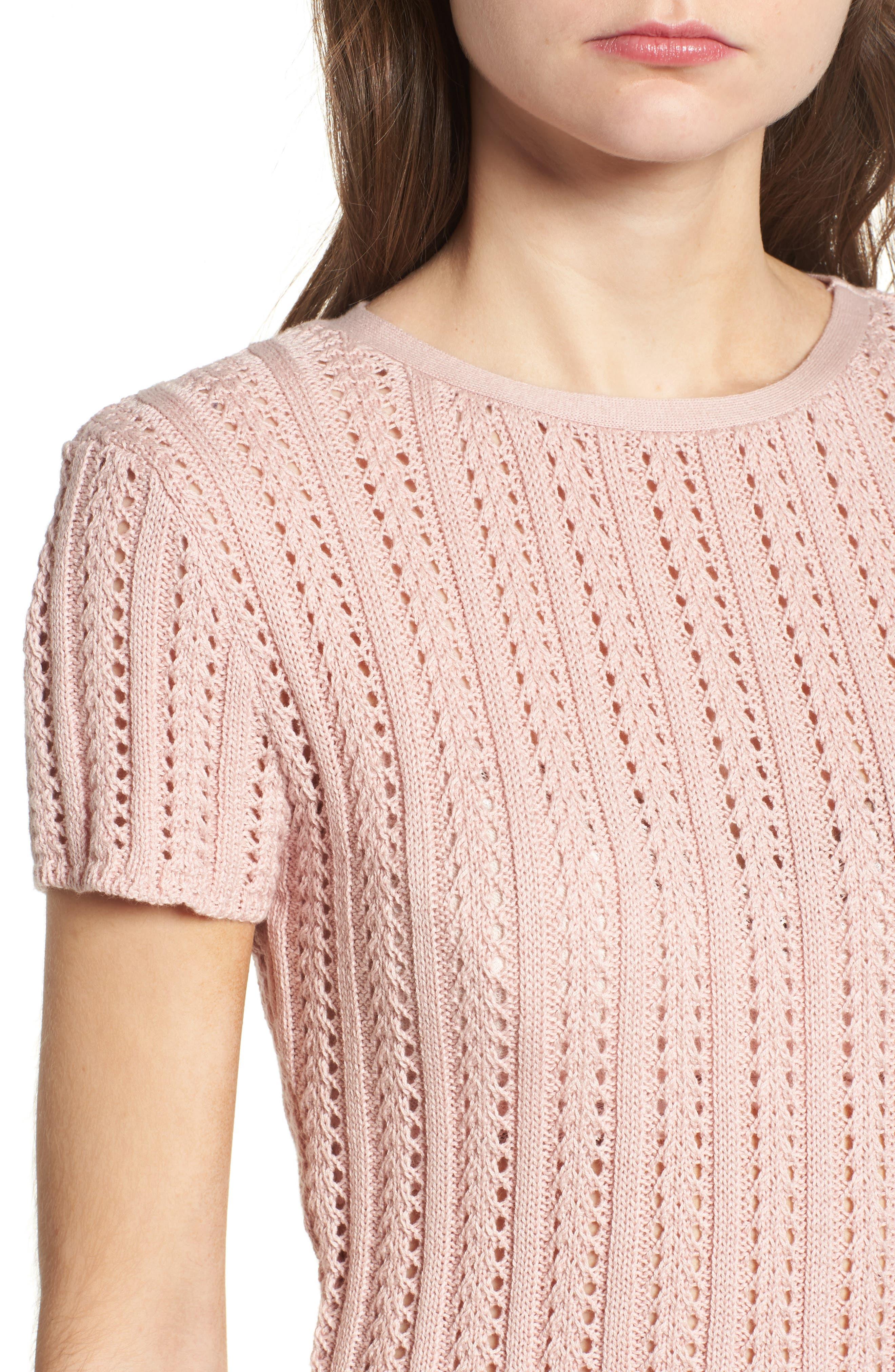 Crop Sweater,                             Alternate thumbnail 4, color,                             651