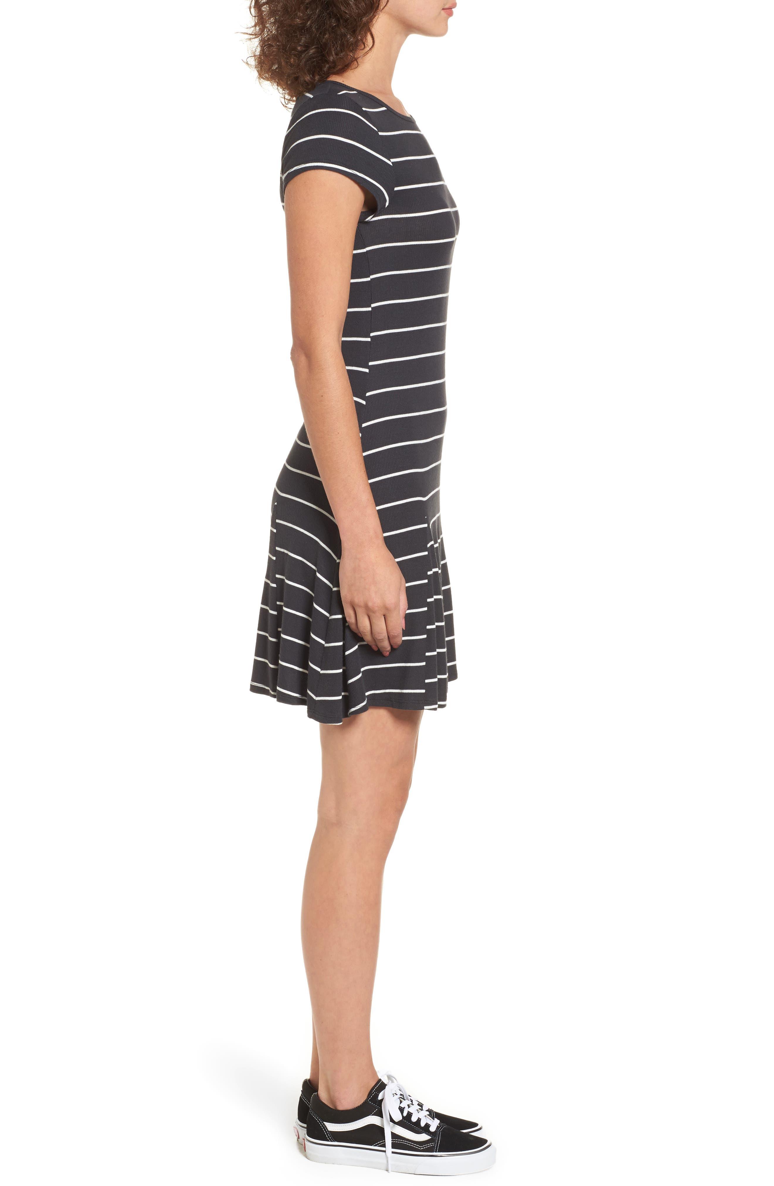 Rockin Down Stripe T-Shirt Dress,                             Alternate thumbnail 3, color,                             015
