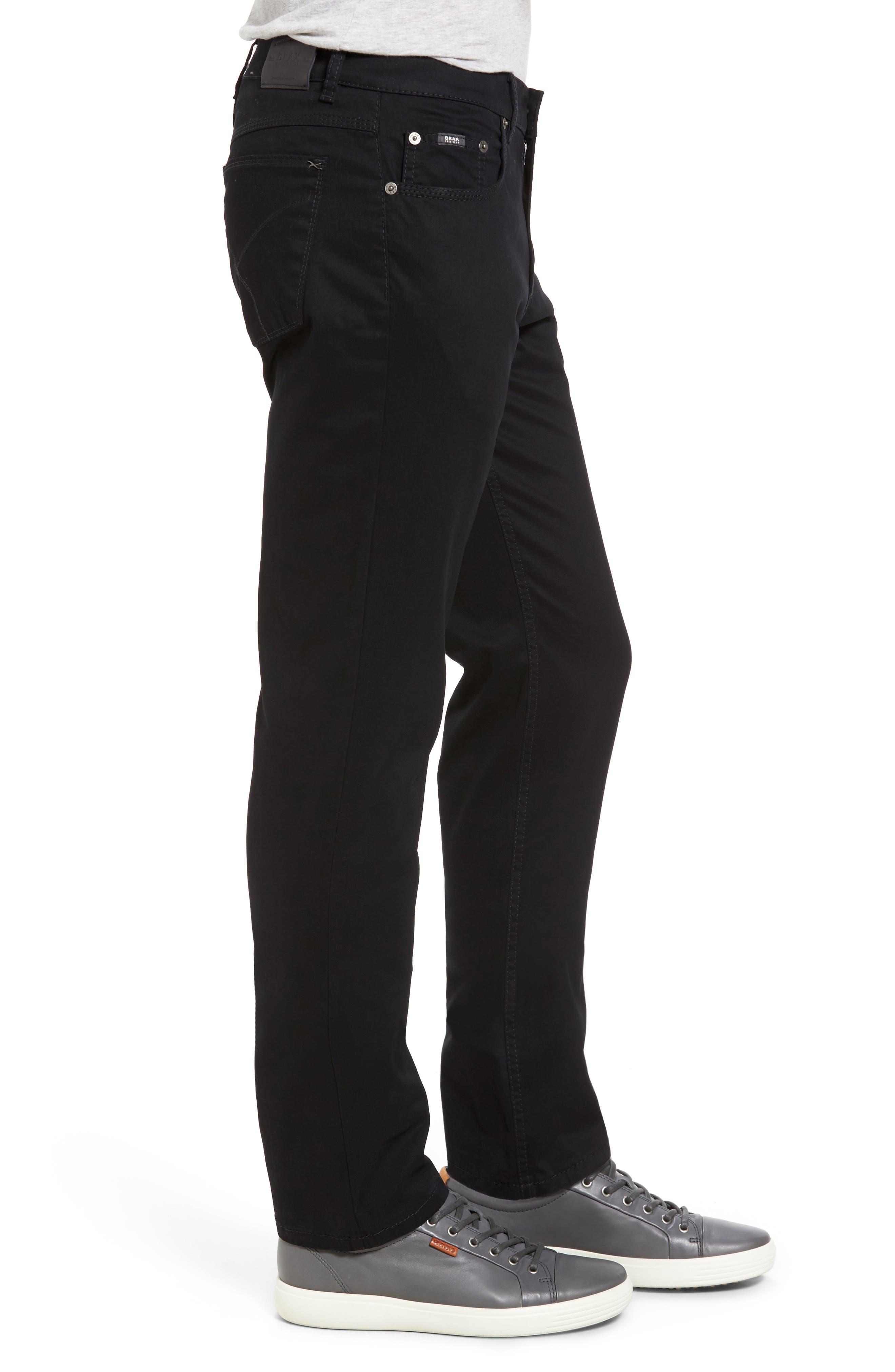 Cooper Prestige Stretch Cotton Pants,                             Alternate thumbnail 4, color,                             PERMA BLACK
