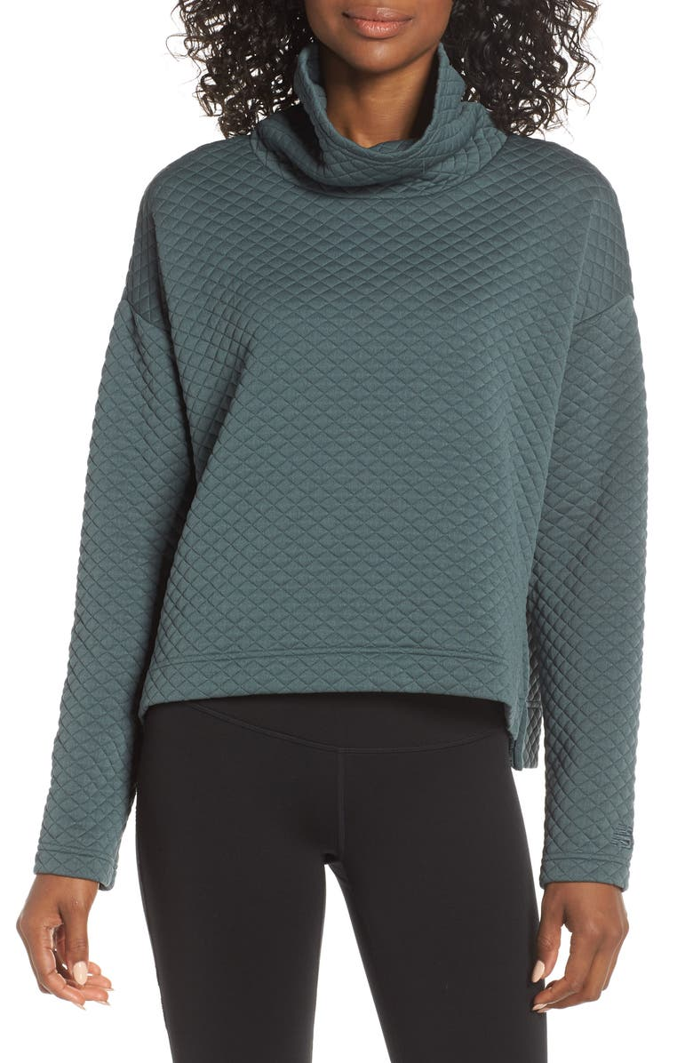 5da075b4fcdd6 NEW BALANCE Heat Loft Funnel Neck Sweatshirt, Main, color, FRO
