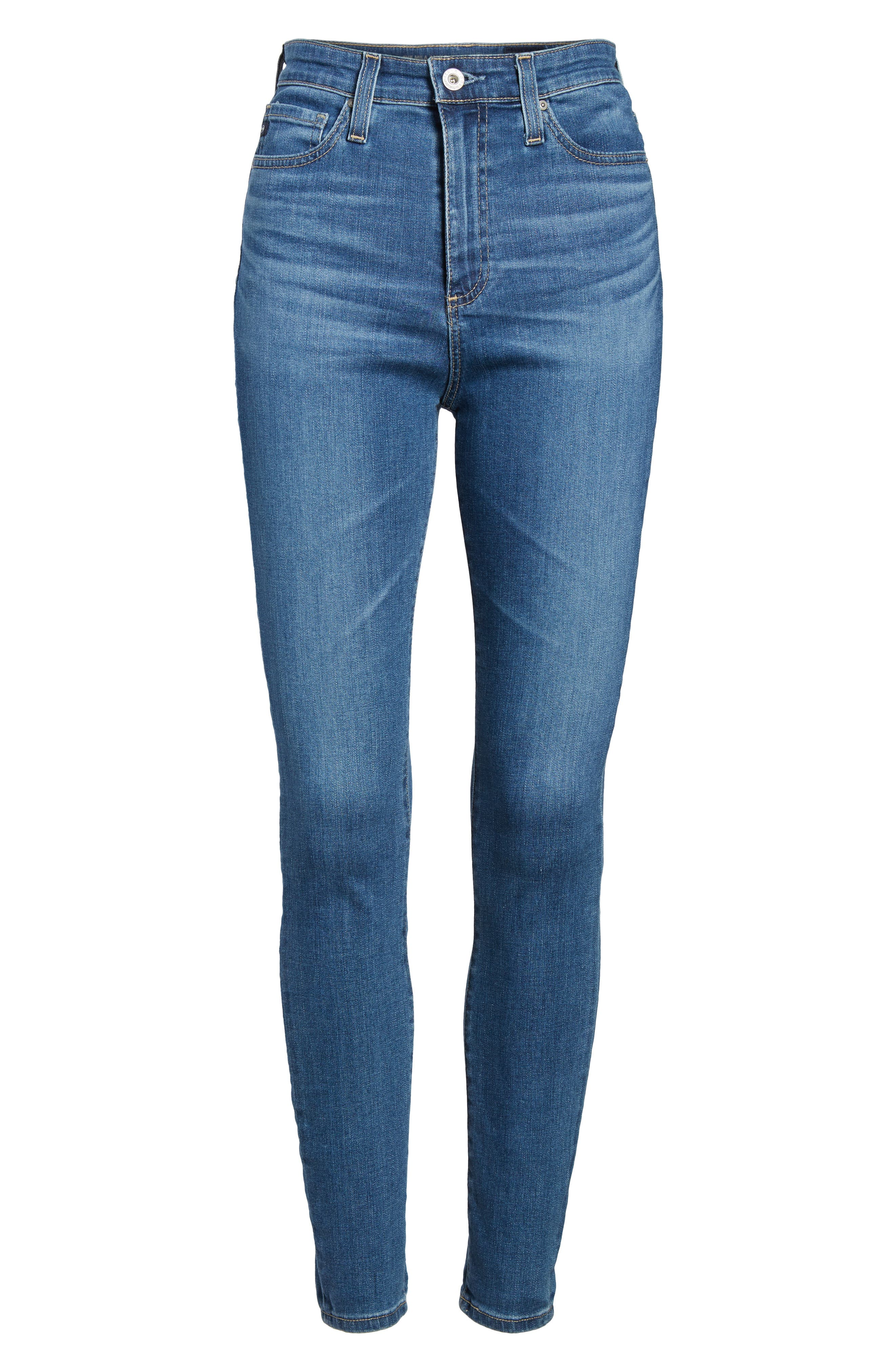 Mila High Waist Ankle Skinny Jeans,                             Alternate thumbnail 7, color,                             416