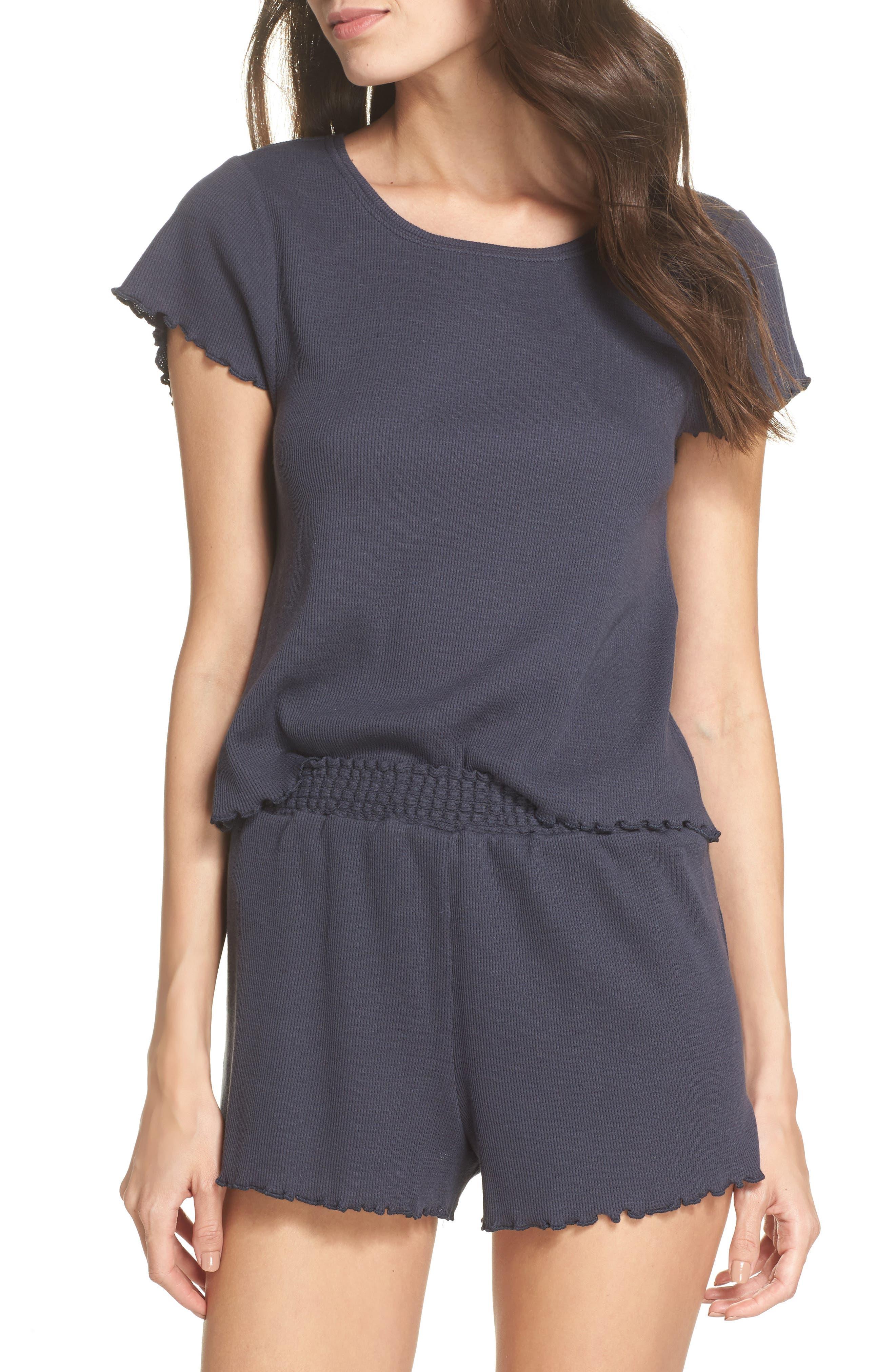 Thermal Short Pajamas,                             Main thumbnail 1, color,                             410