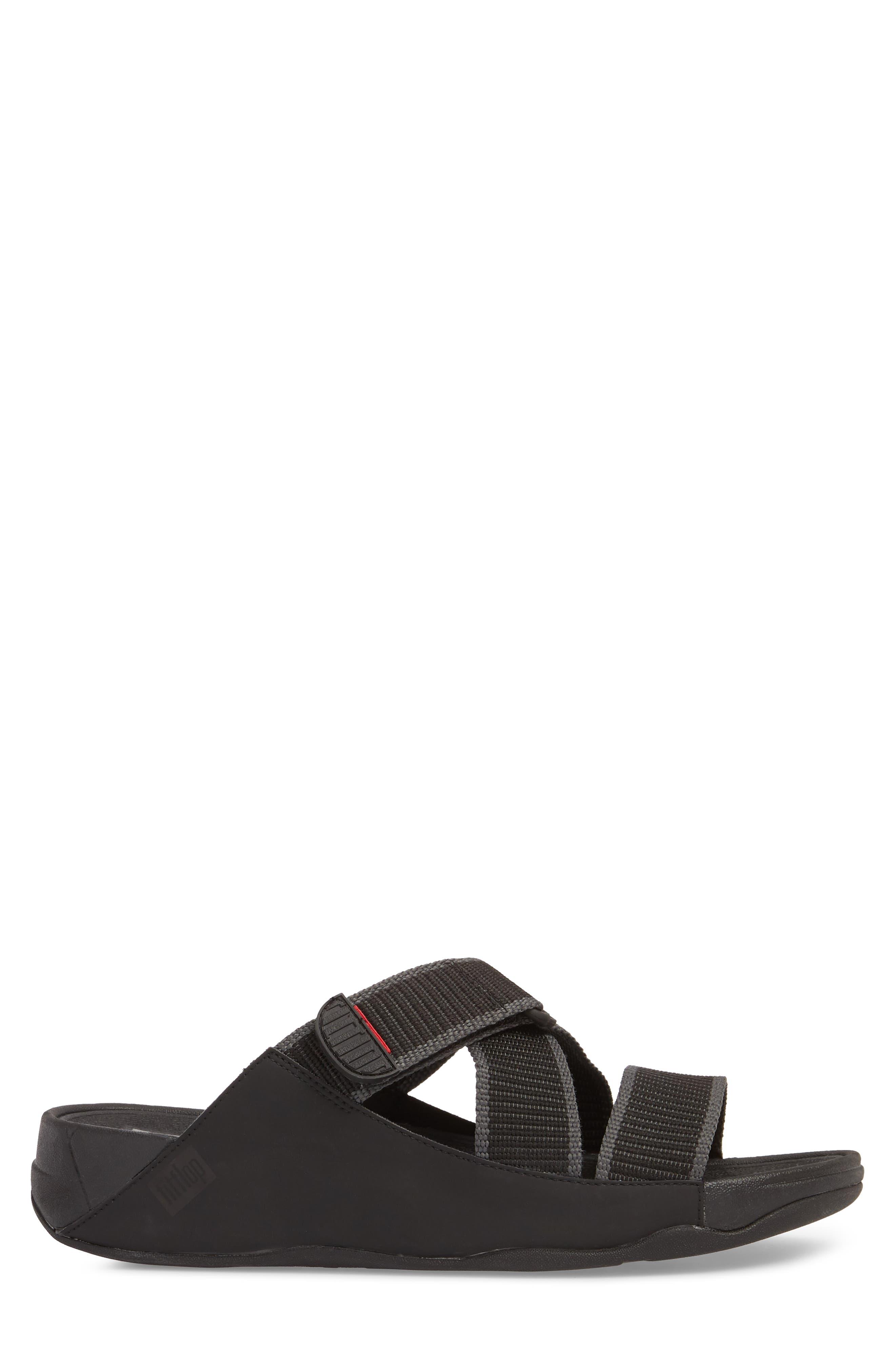 Sling II Slide Sandal,                             Alternate thumbnail 3, color,                             BLACK/ DARK SHADOW